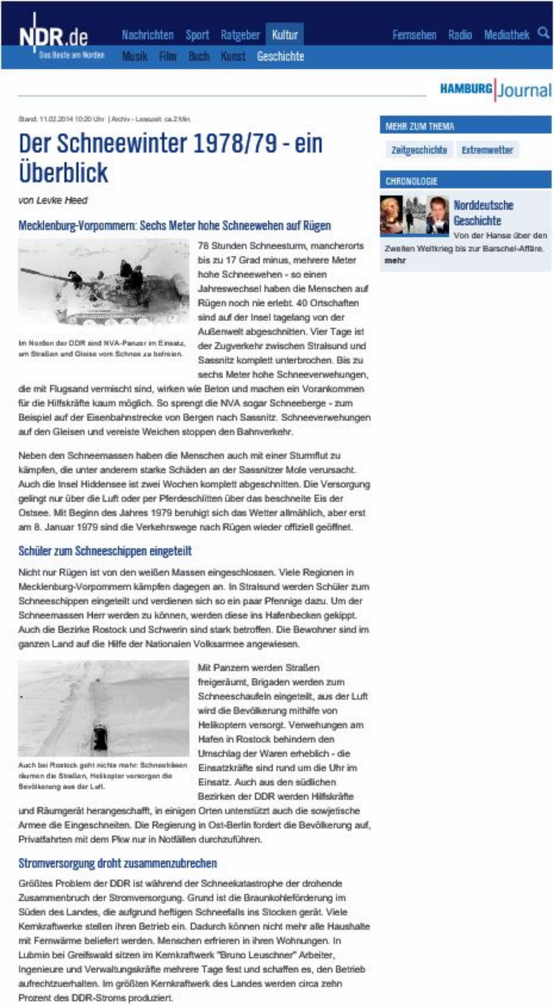 Katastrophen-Winter 1978 | 1979 in Schwerin