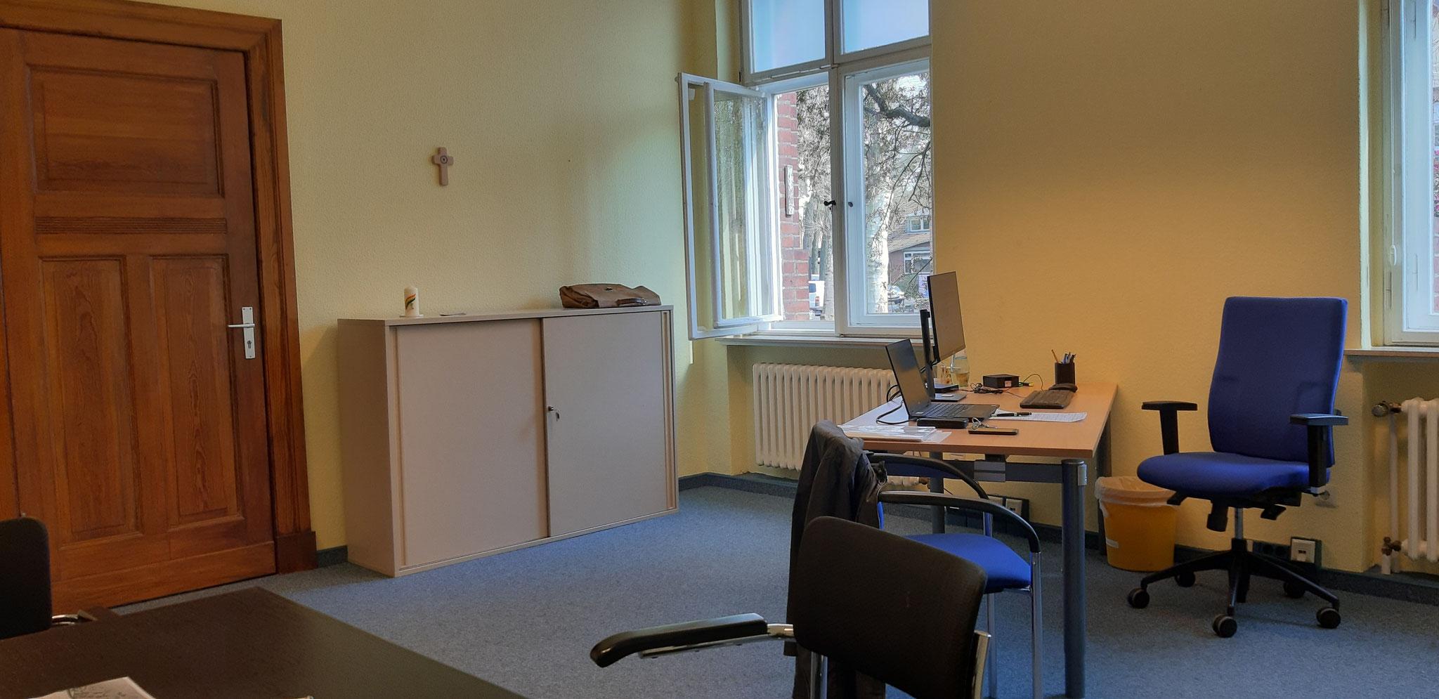 Büro DiaLOG-IN im Haupthaus Spandau am 02.04.2019