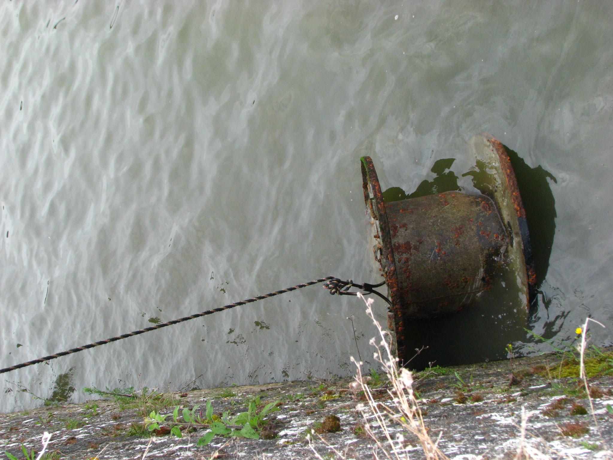un touret resté sous l'eau. Il y en a 5