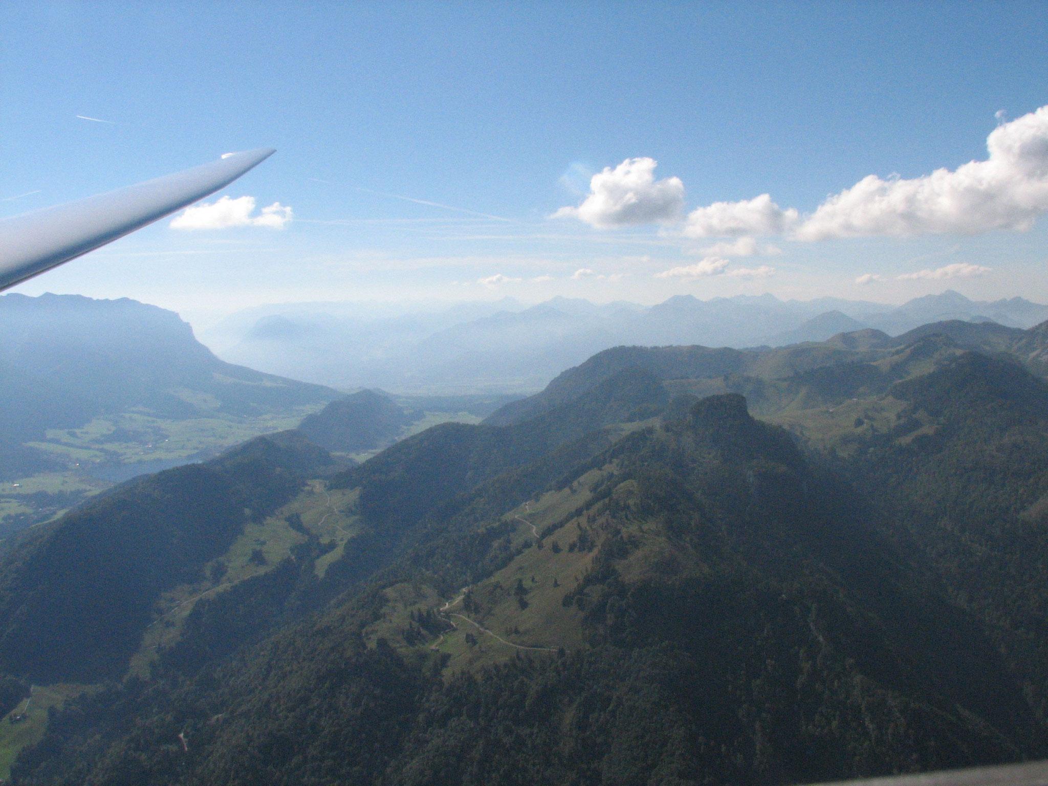 Chiemgau aus Segelflugperspektive