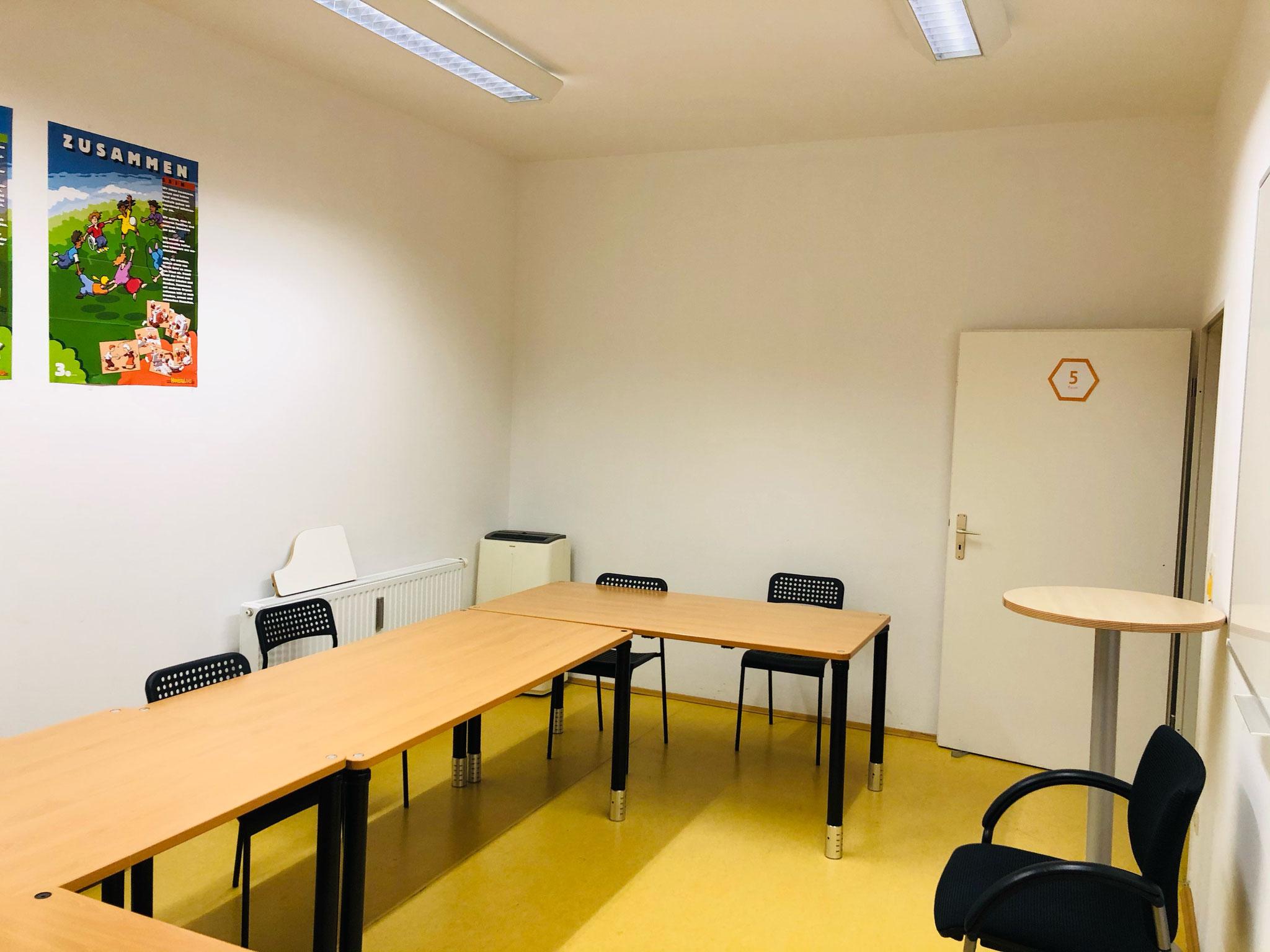 Raum 5, 11m², 5 Plätze, Internet, klimatisiert
