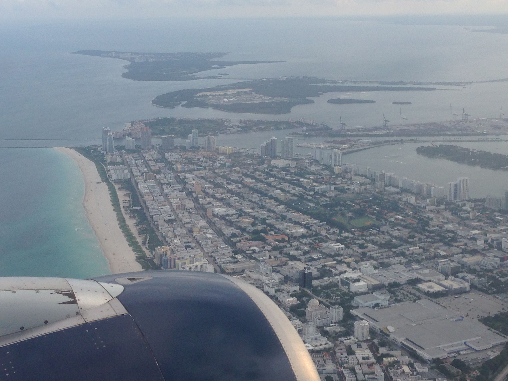 Landeanflug Miami Beach