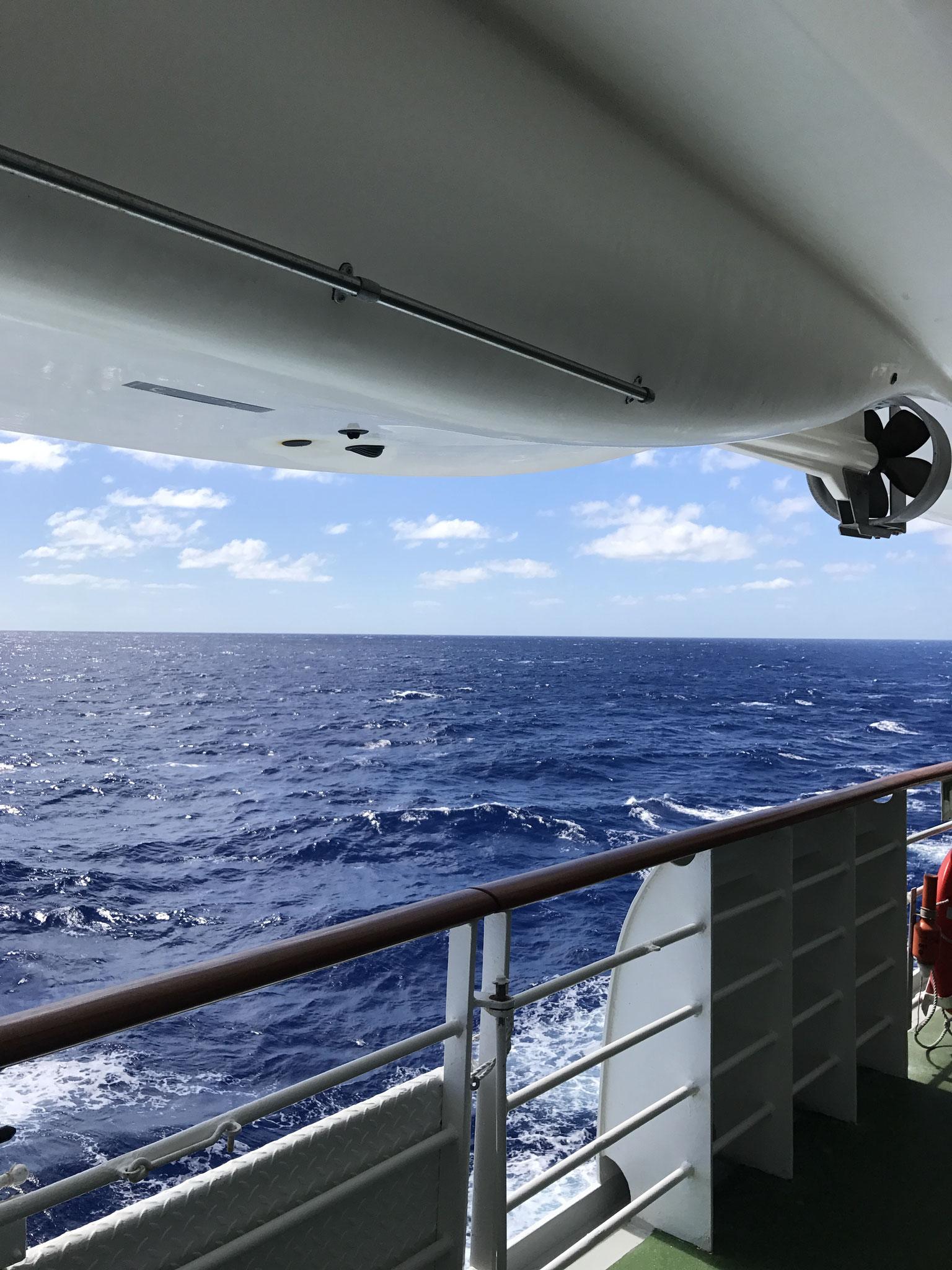 Seetag mit Seegang und heftigem Sturm