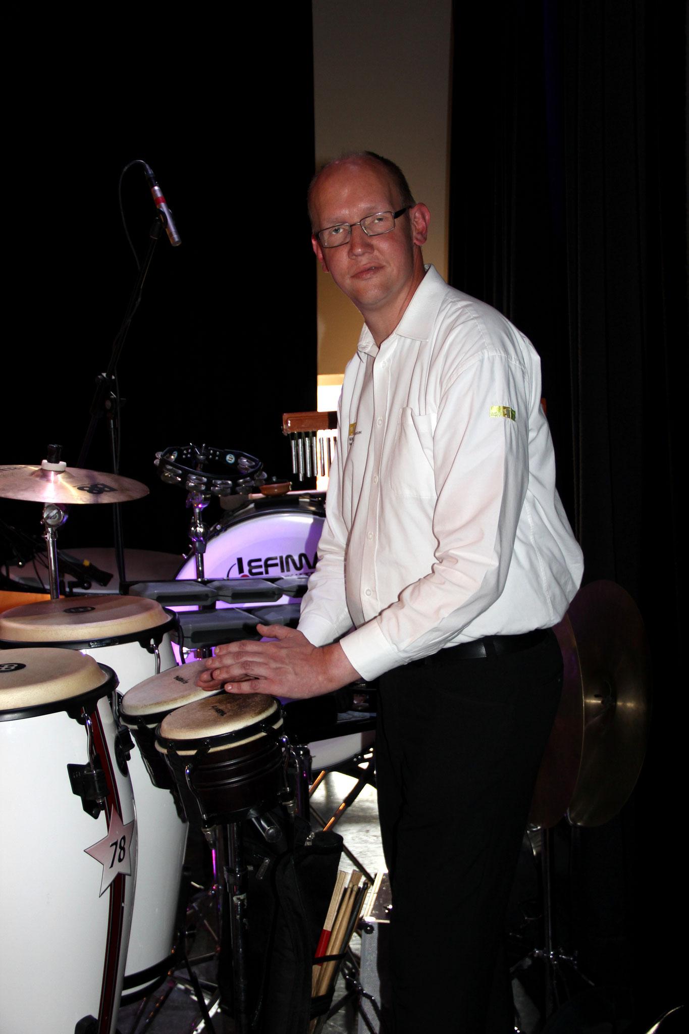 Perkussionist Markus