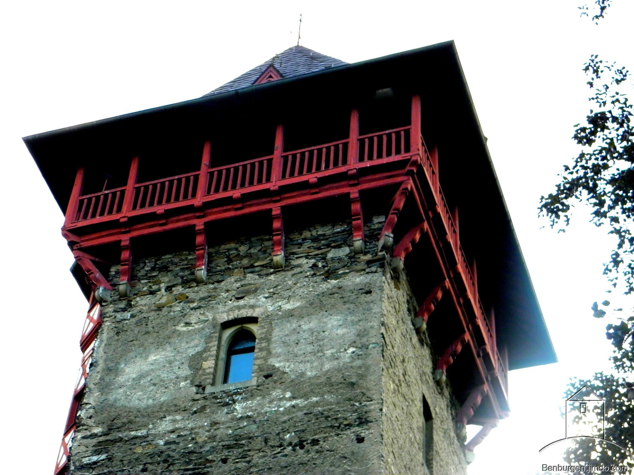 Bergfried mit Aufsatz aus dem 19. Jahrhundert. NIederburg Gondorf