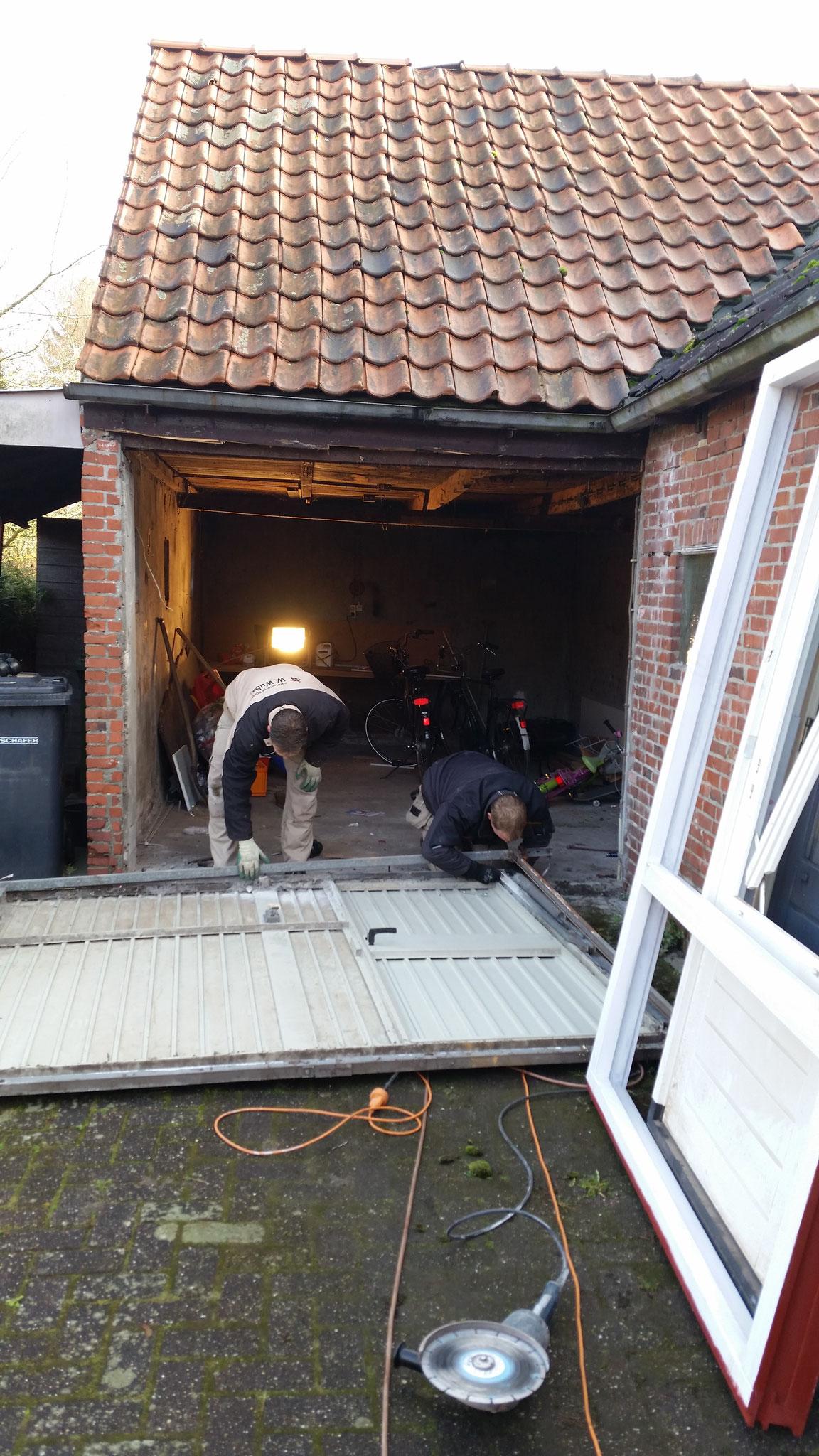 De oude garage