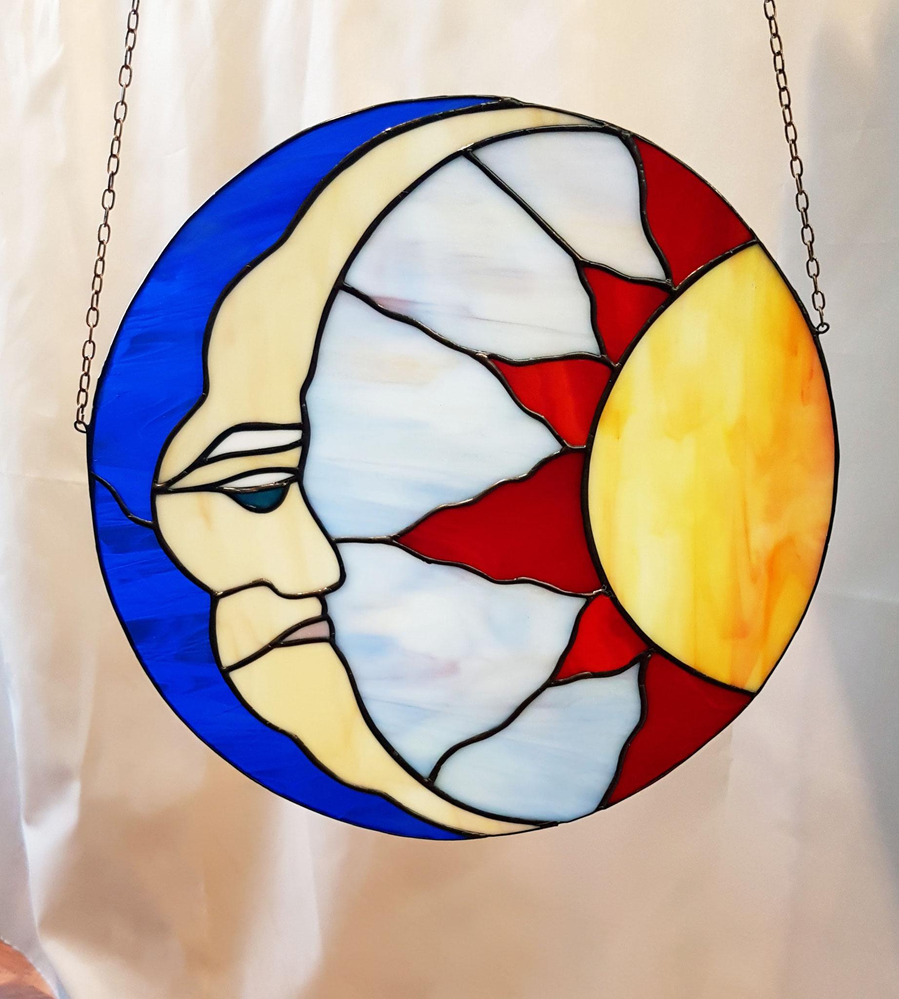 Zon en Maan raamhanger