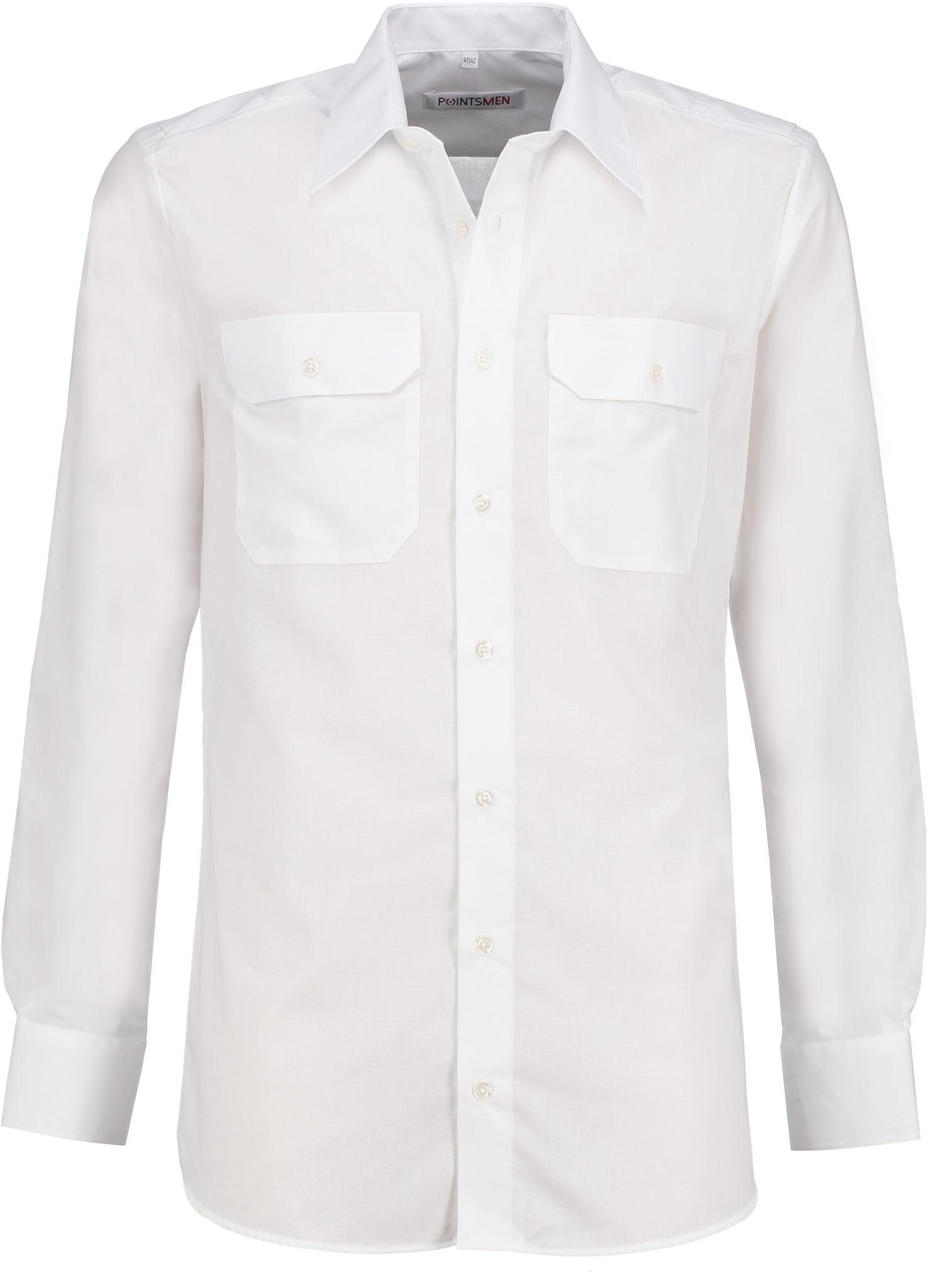 Diensthemd weiß langarm