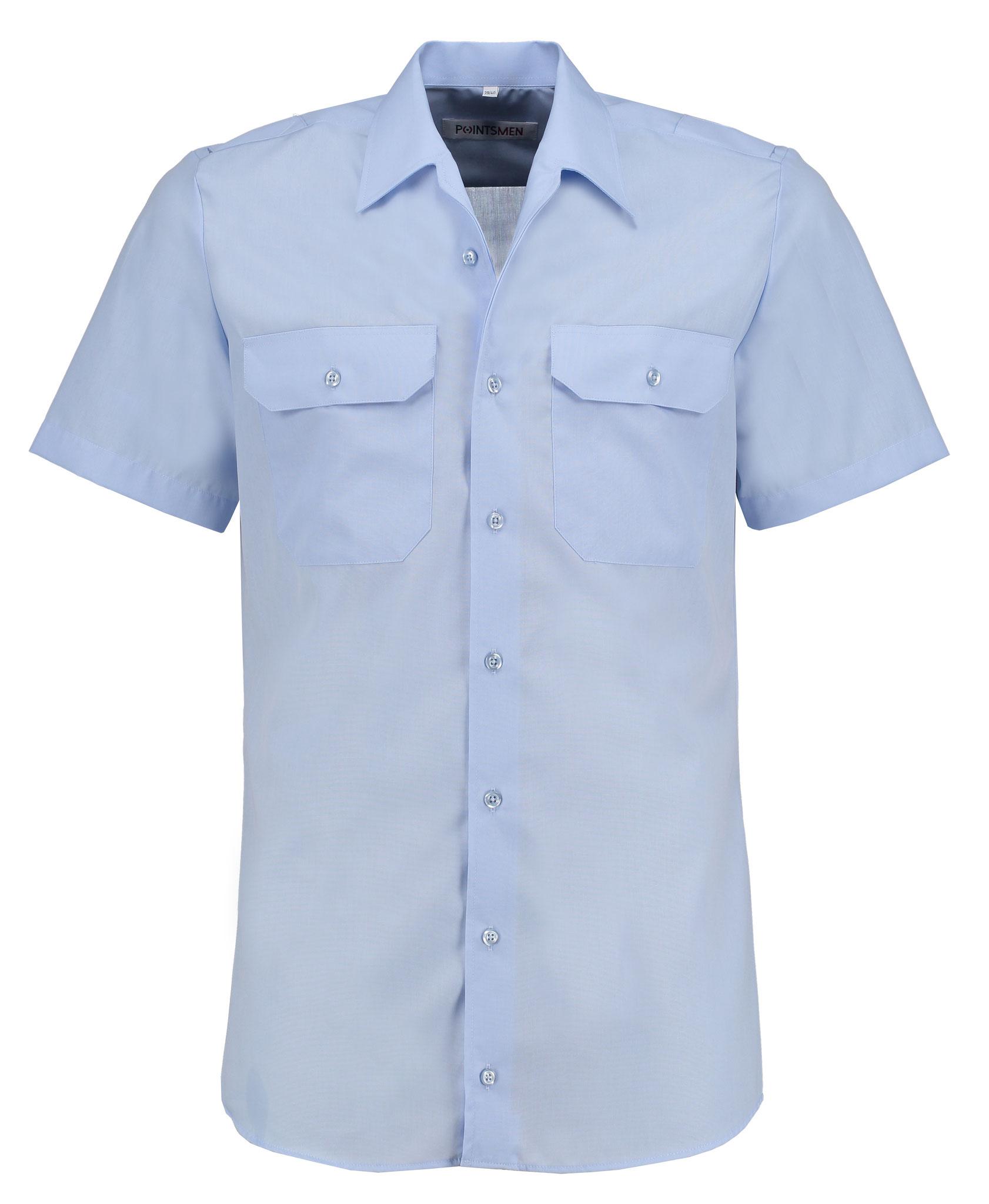 Diensthemd hellblau kurzarm