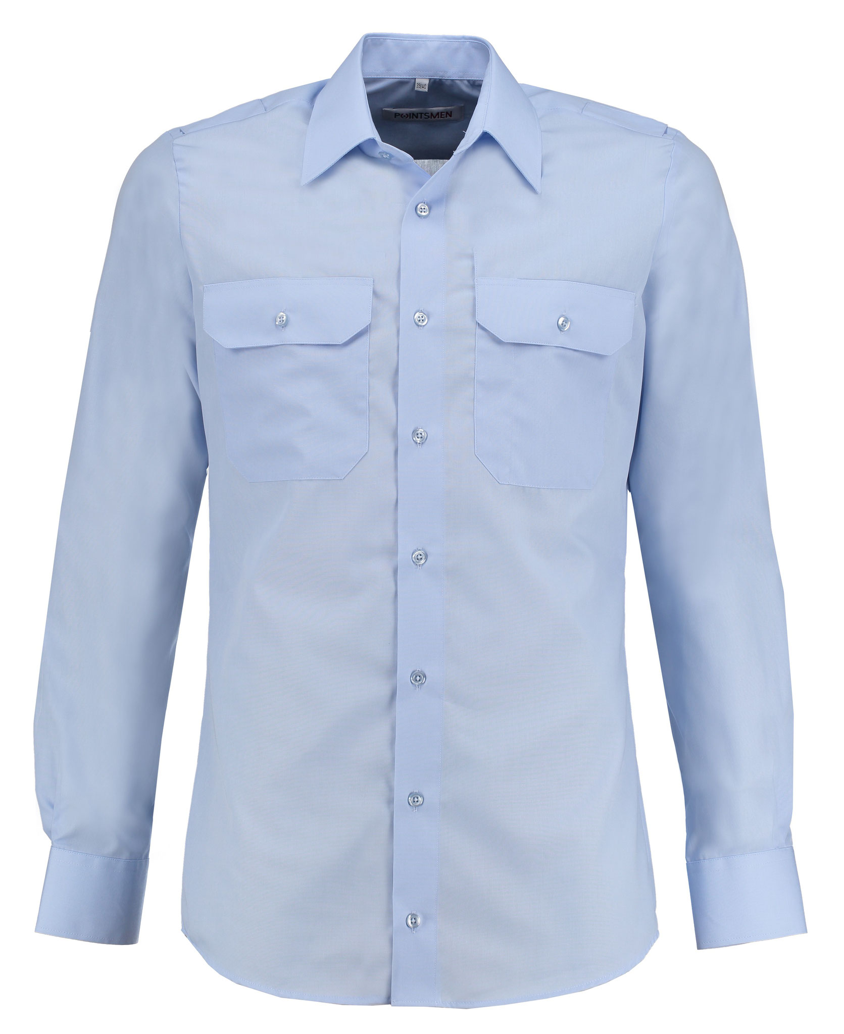 Diensthemd hellblau langarm