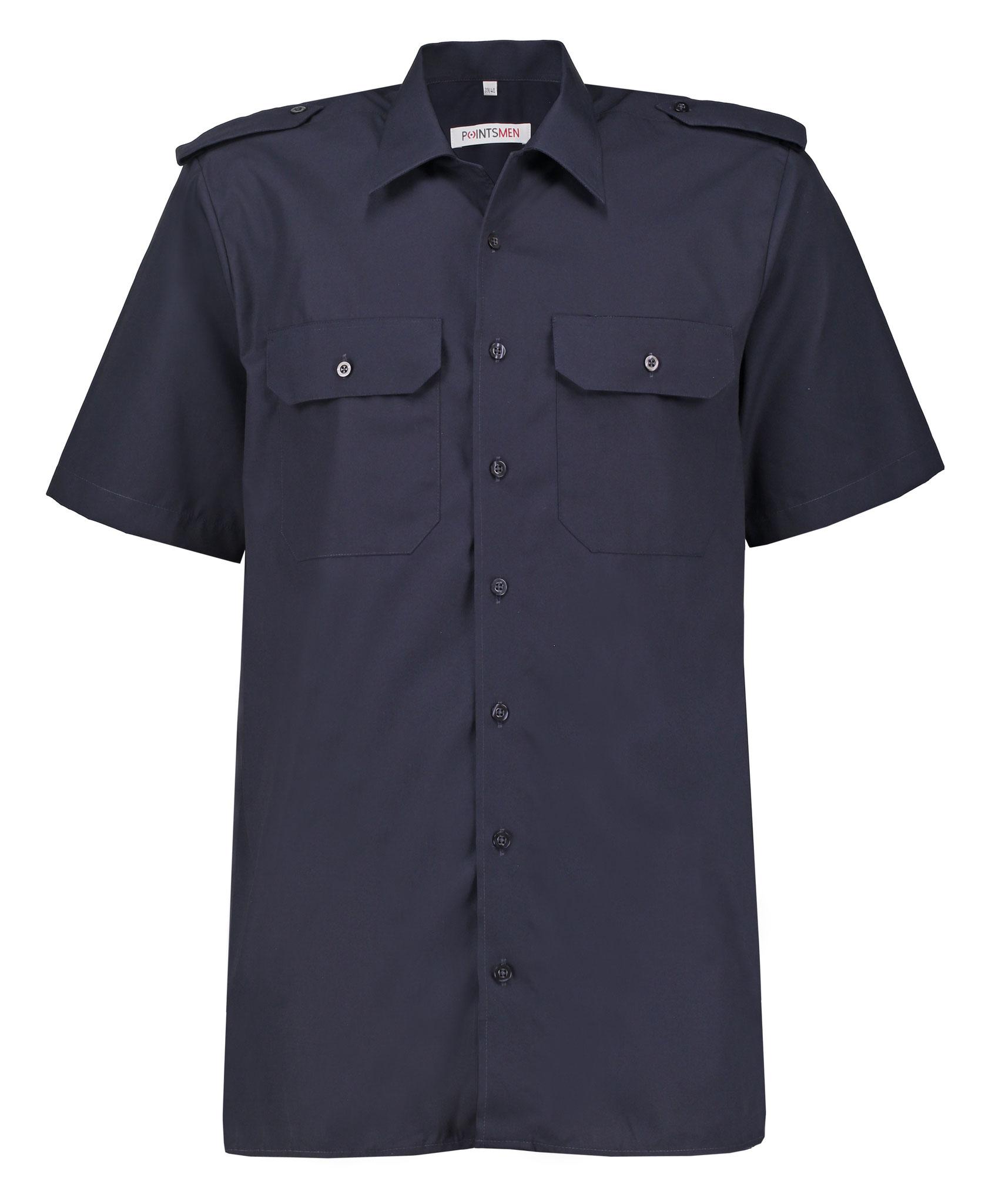 Diensthemd marine kurzarm