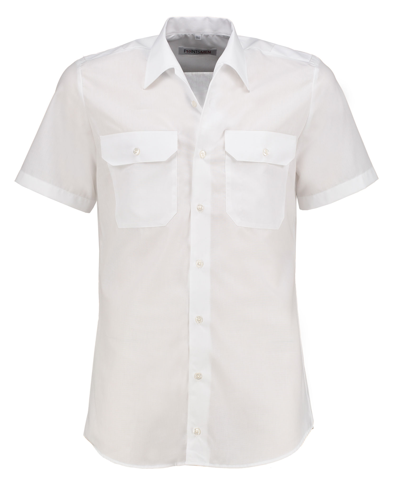 Diensthemd weiß kurzarm