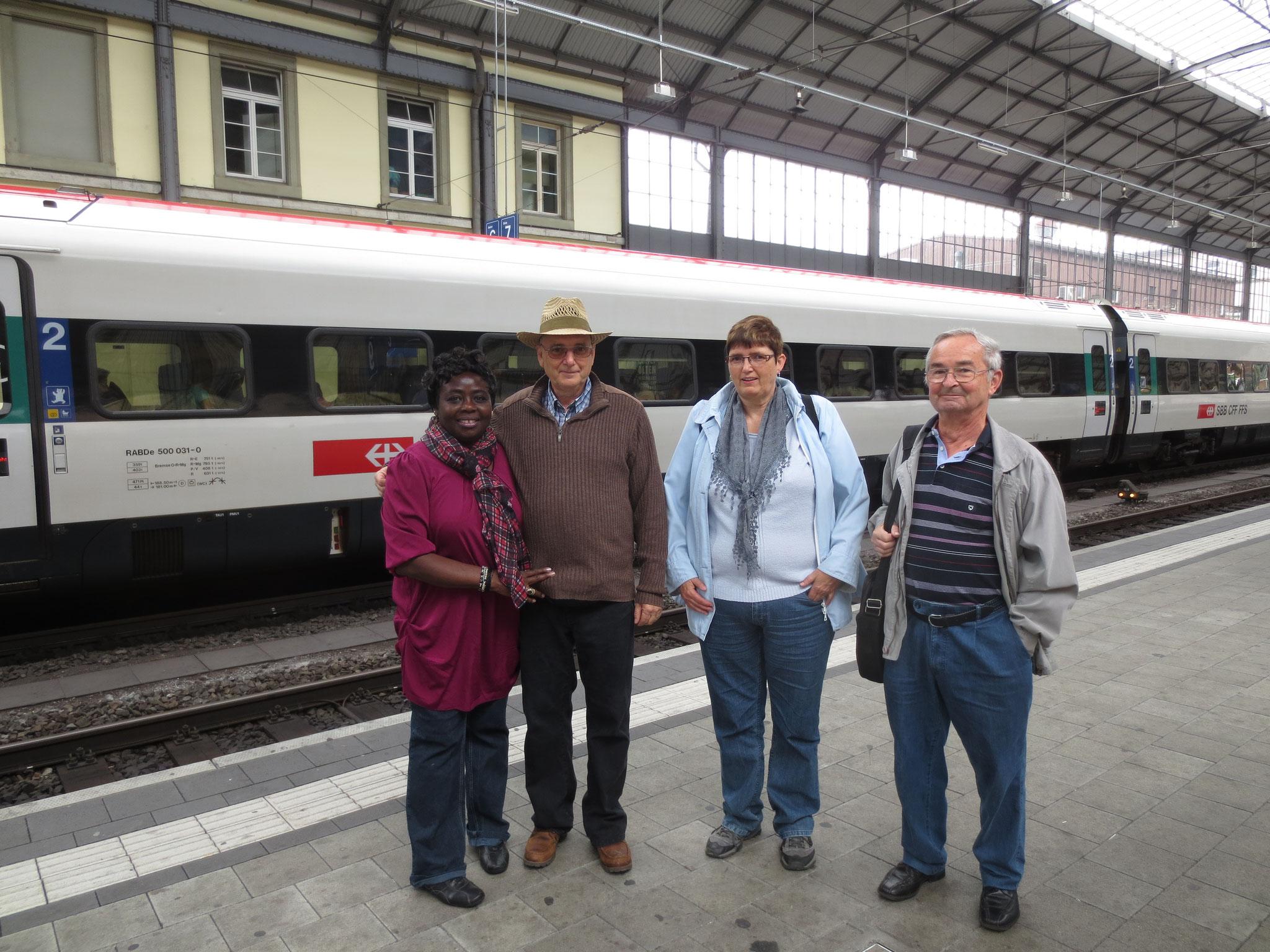 2. 24.8.2014 Hier am Bahnhof Olten begann das Abenteuer.