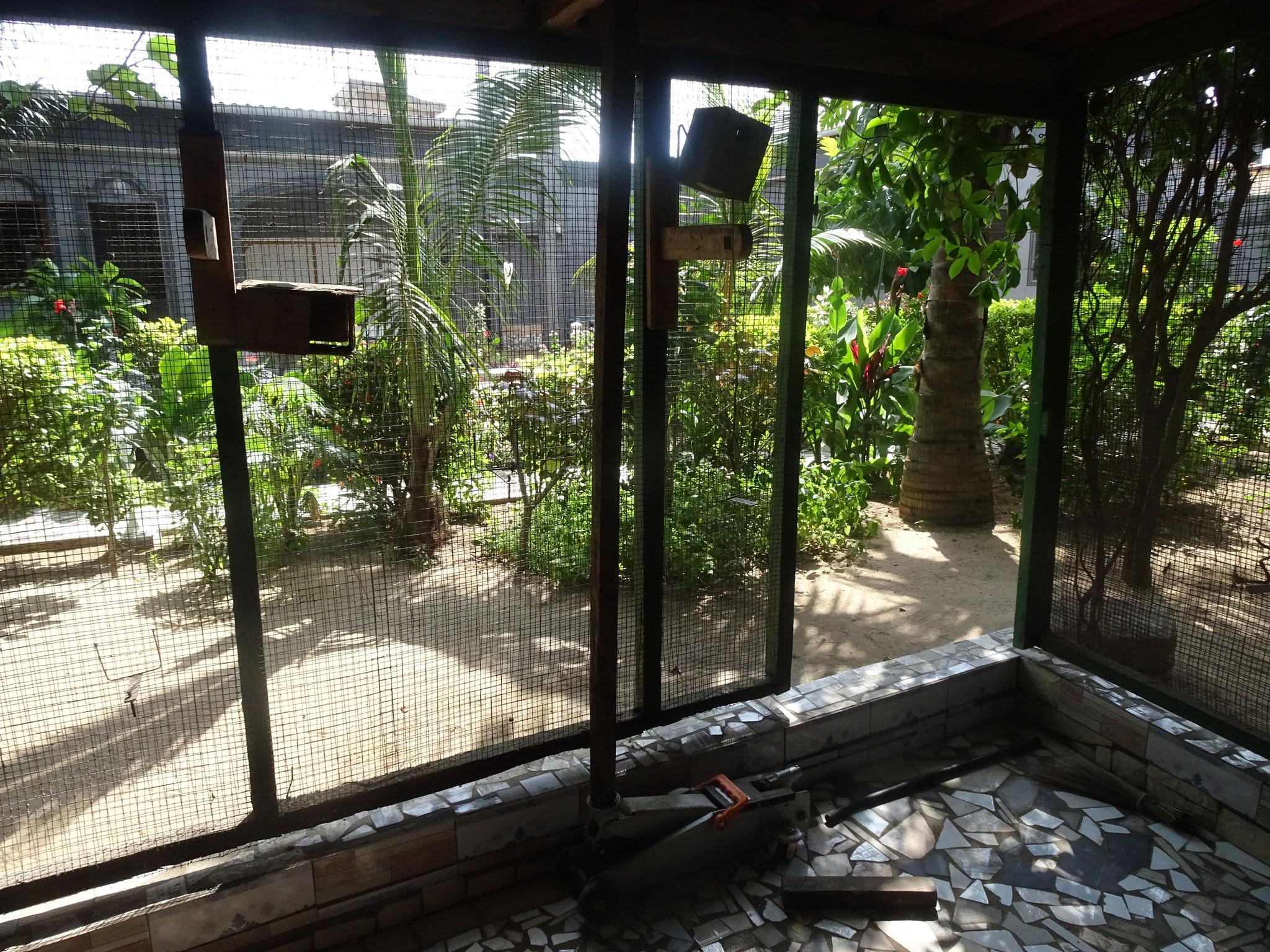 Das Hühnerhaus wurde auch mit Carro casser gefliesst