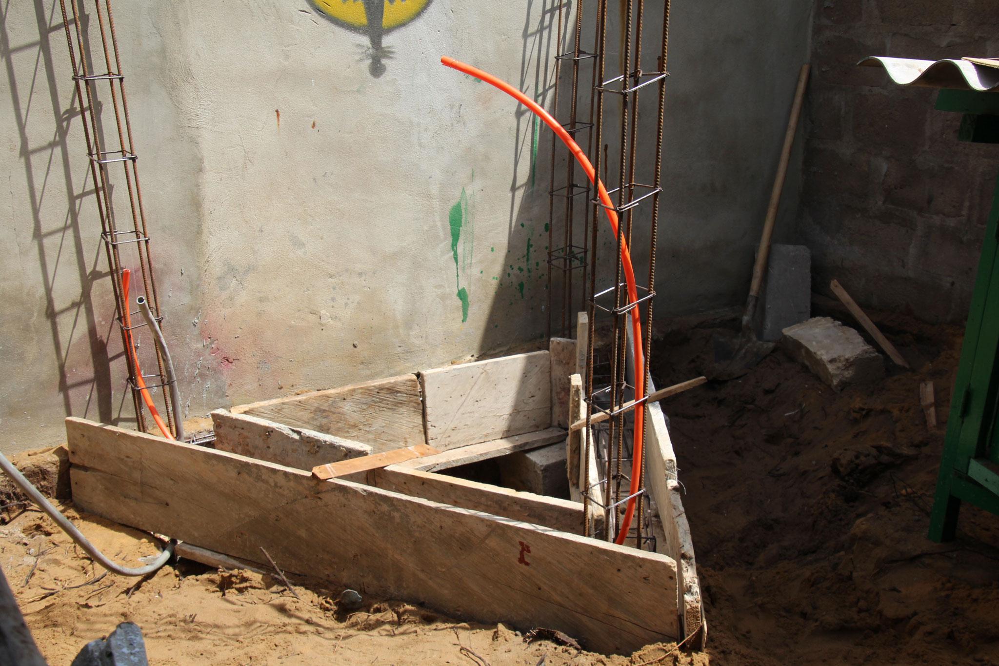 Das dreieckige Fundament war eine Herausforderung für den Schalungsschreiner