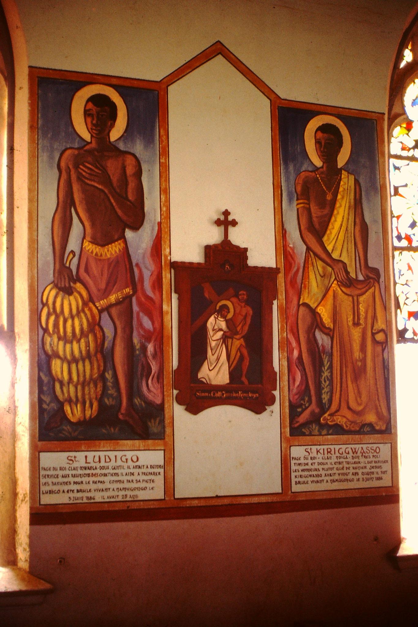 Malerei in der Kirche von Togoville.