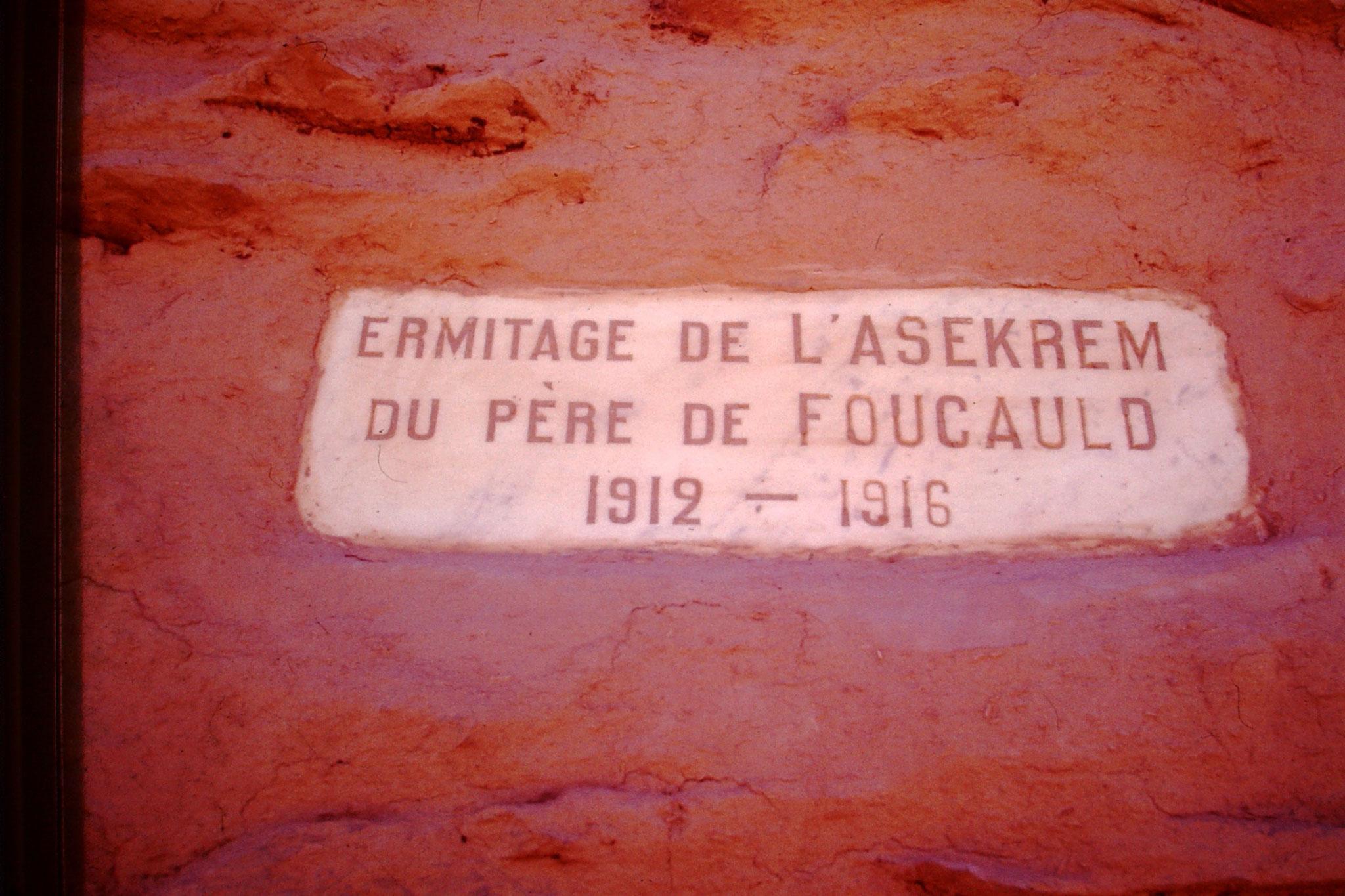 37. Der Mönch Pére de Foucauld lebte hier 4 Jahre.