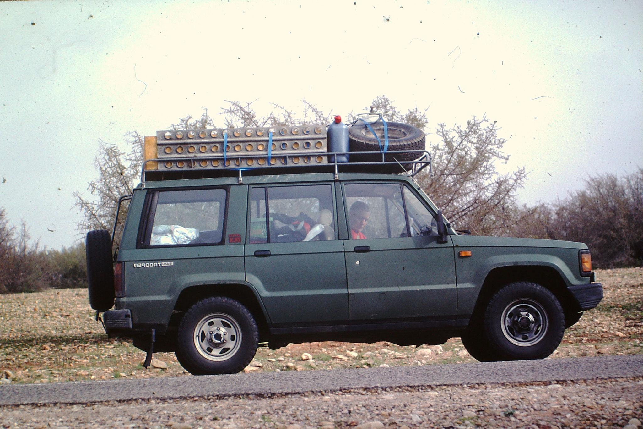 Unser Fahrzeug bei der 7. Saharadurchquerung.