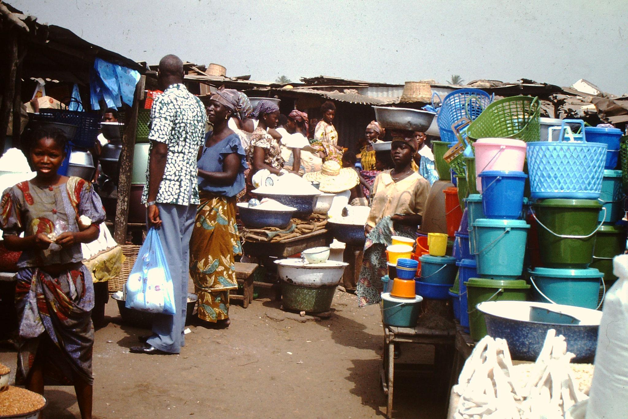 Auf dem Markt.