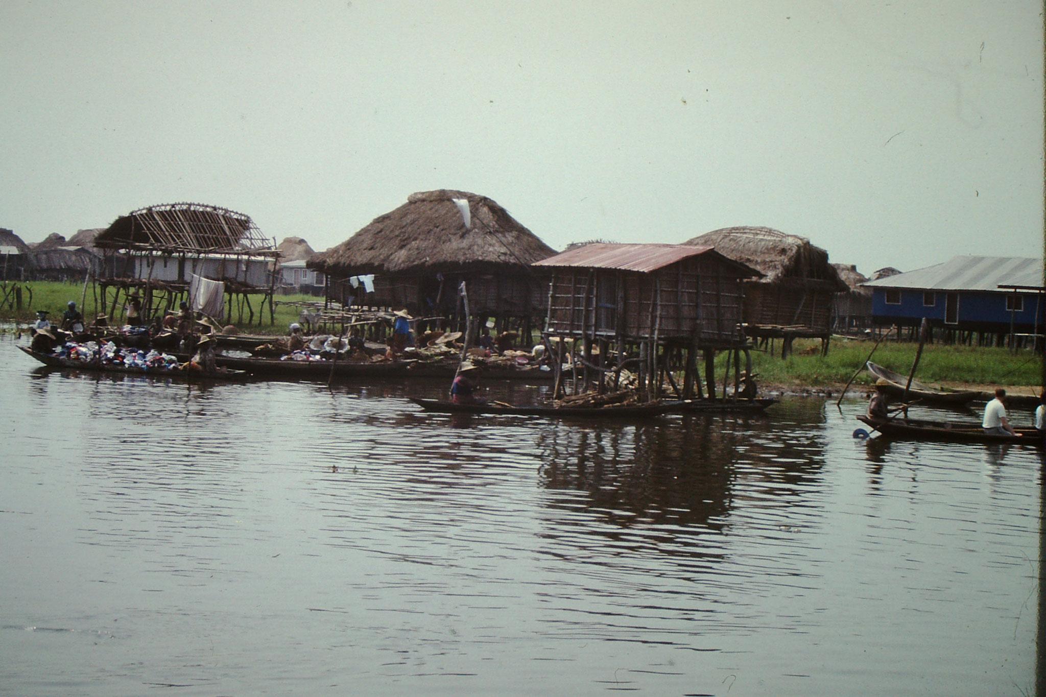 Schwimmender Markt von Ganvie.