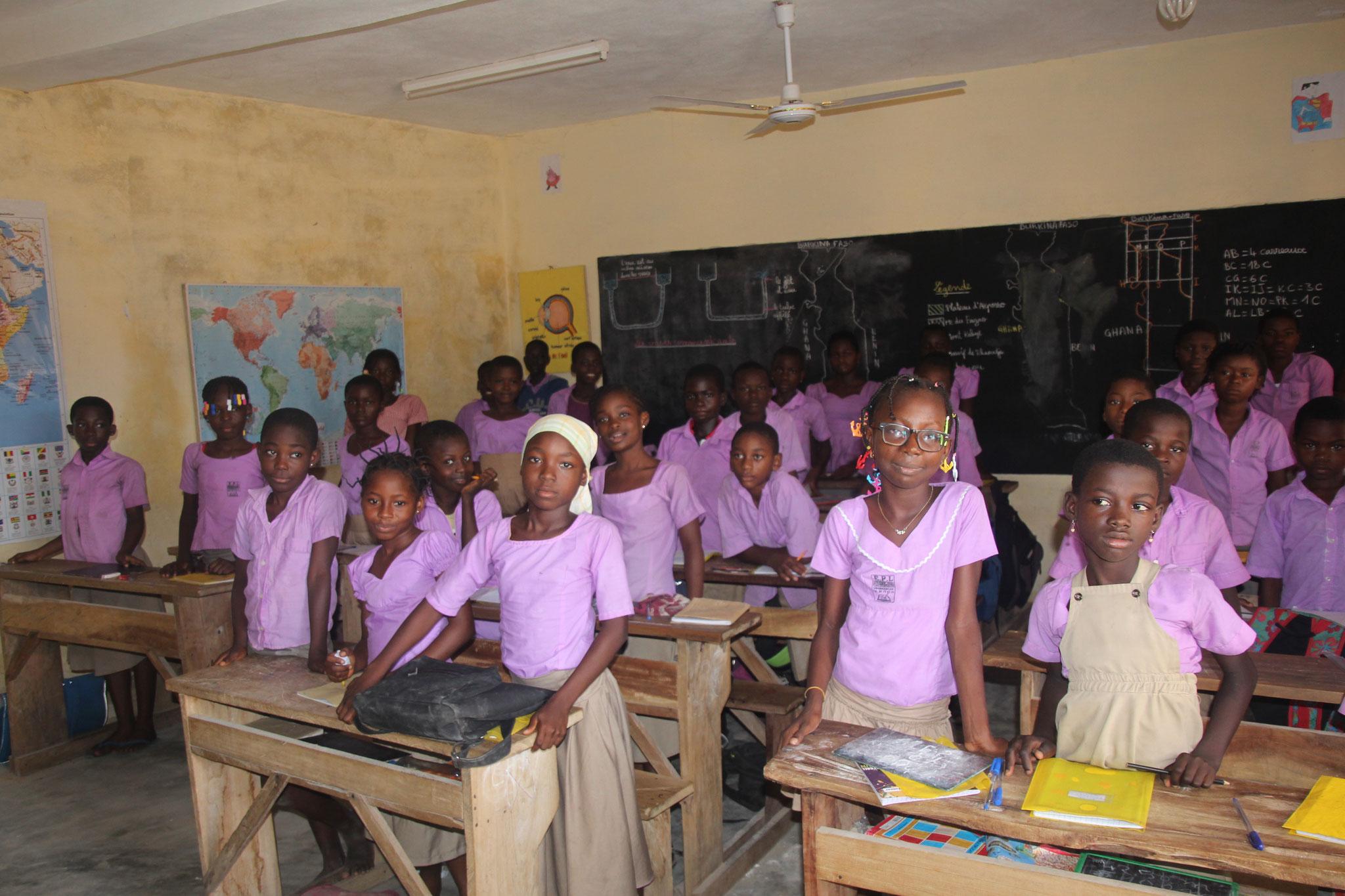 6. Schüler in der Schule Belle Etoile.