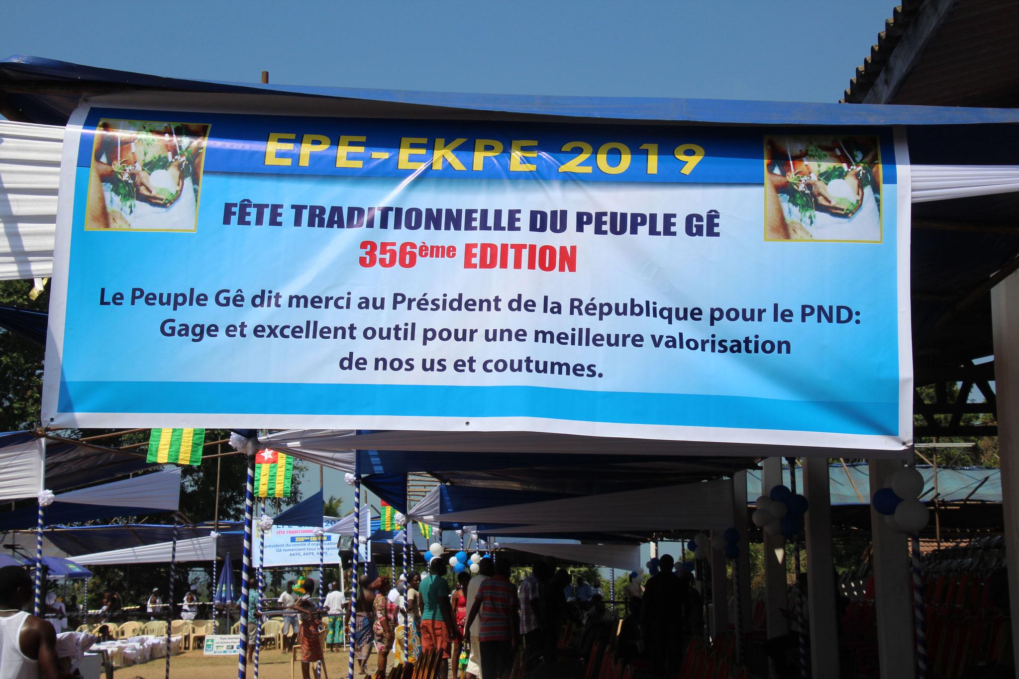 1. 356. Ausgabe des Festes Epe-Ekpe.
