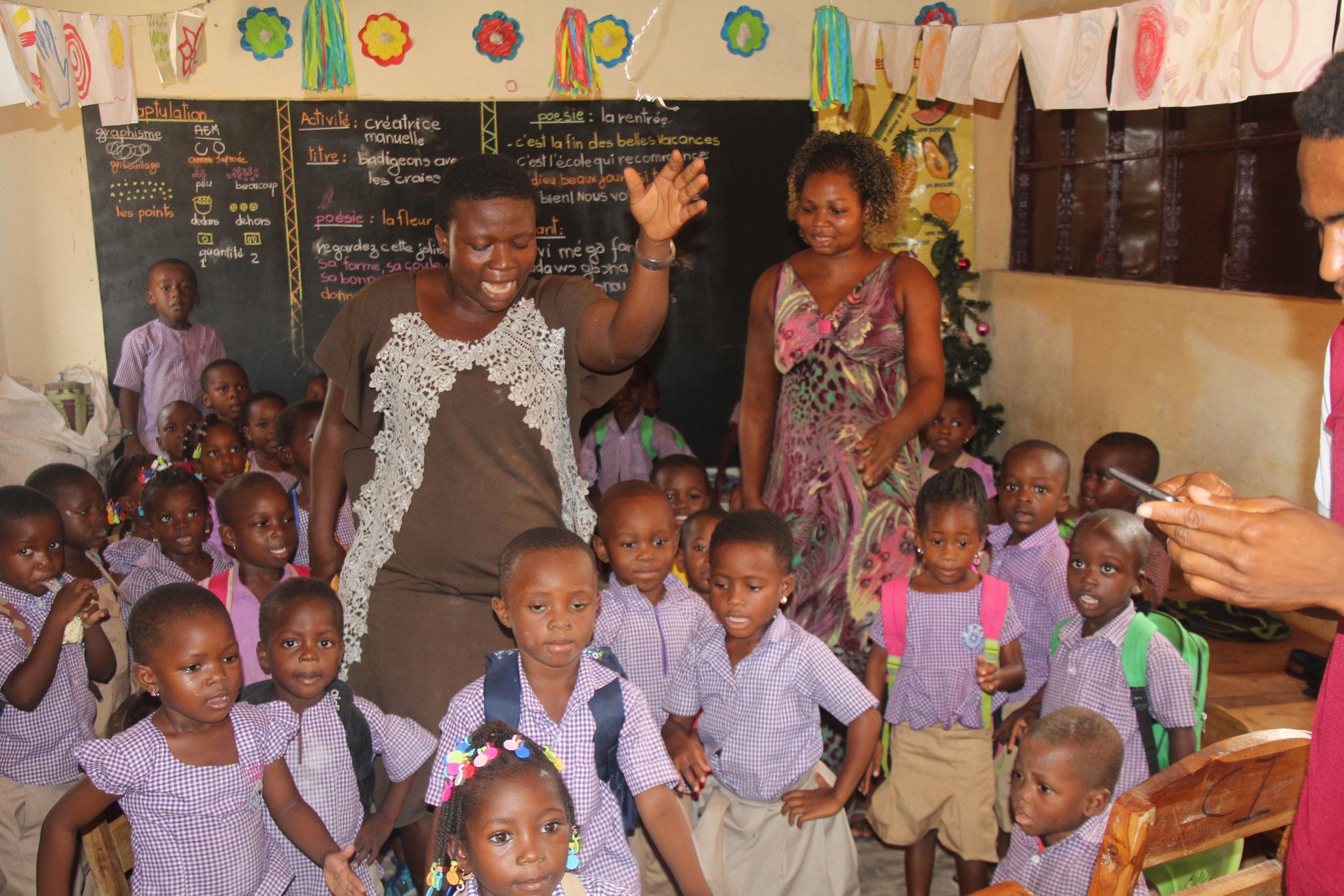 7. Kindergarten in der Schule Belle Etoile.