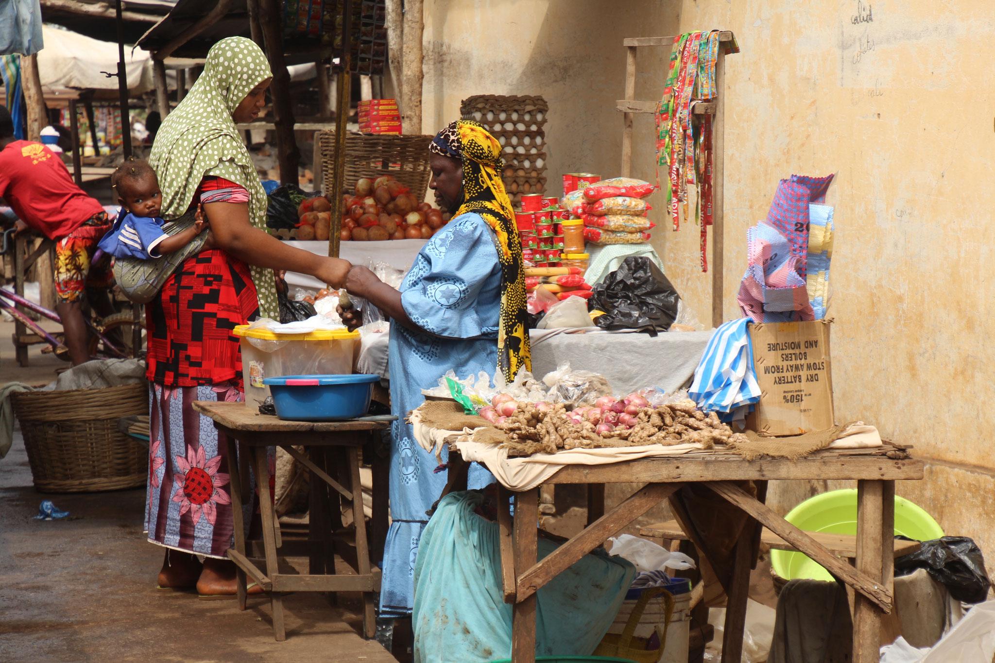 Muslimische Marktfrauen.