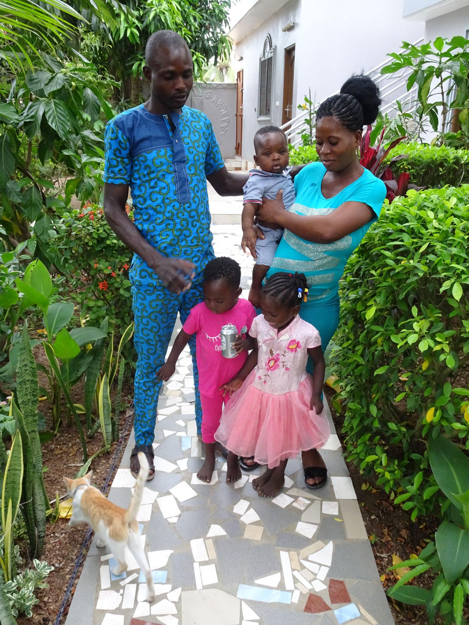 Unser Gärtner mit Familie