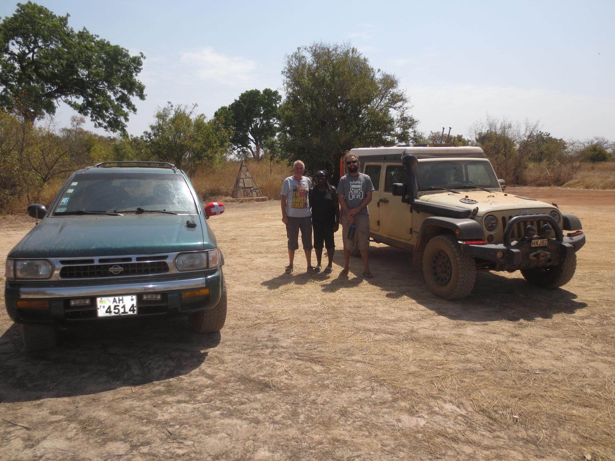 4. Den Park besichtigten wir im Konvoi mit einem Australier.