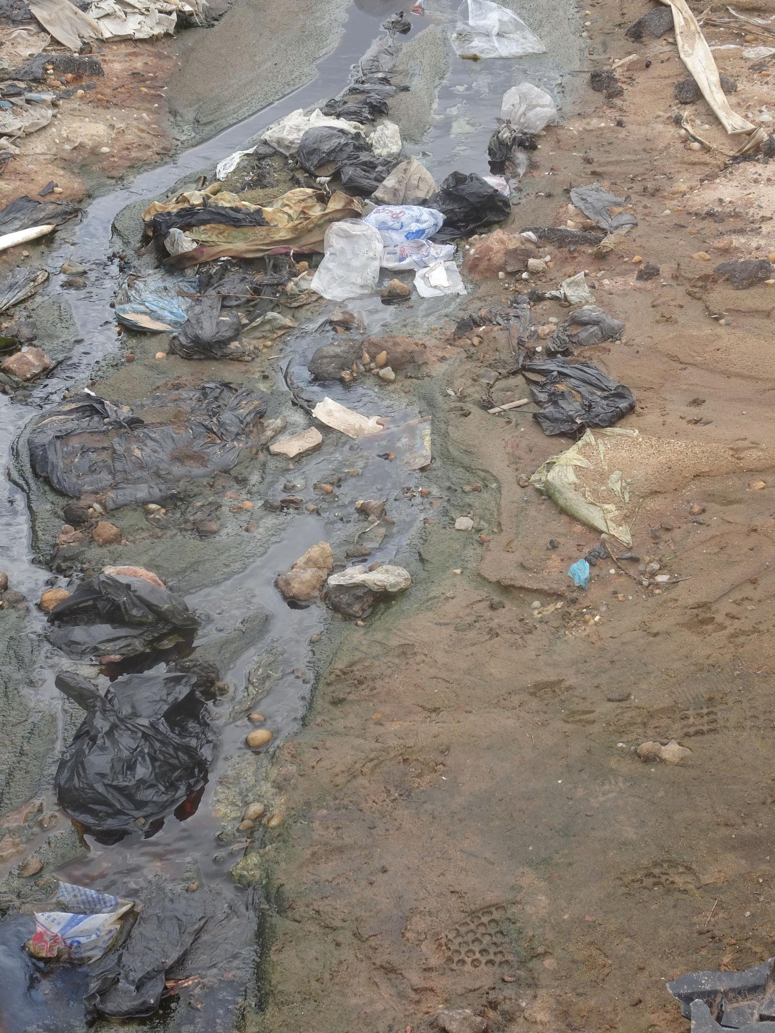 13. Eine Folge des Abfallberges, ist die Wasserverschmutzung.