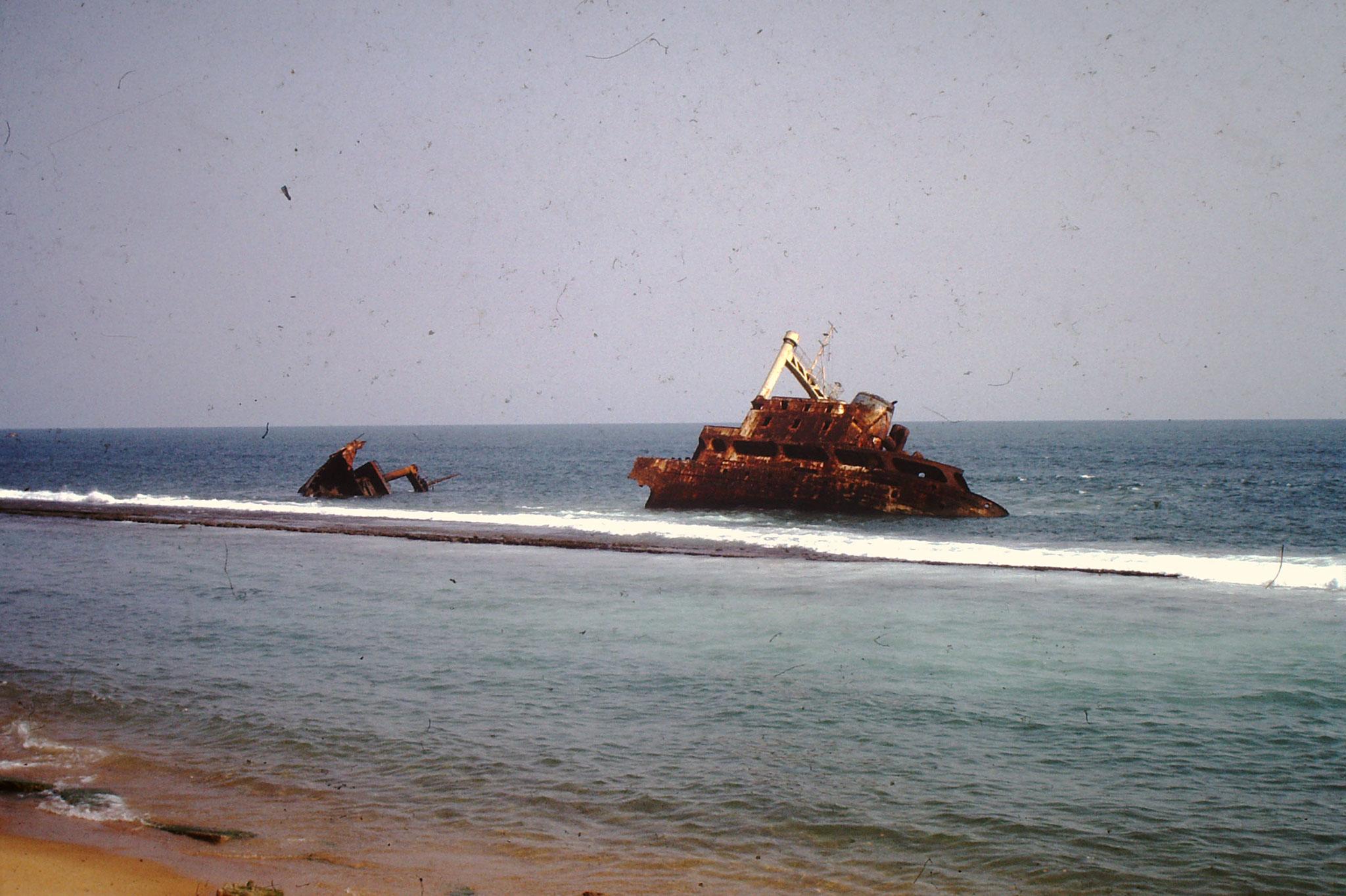 Schiffswrack etwas Östlich vom heutigen Ramatou Plage.