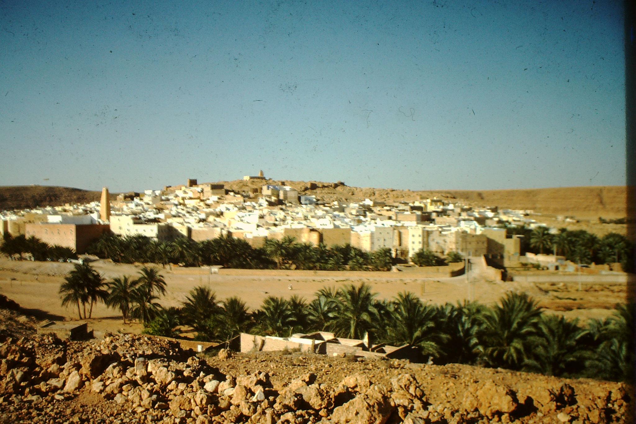 6. Ghardaia Stadtteil El Ateuf. Ghardaia faszinierte mich bei jeder Saharadurchquerung auf der Hoggarroute.
