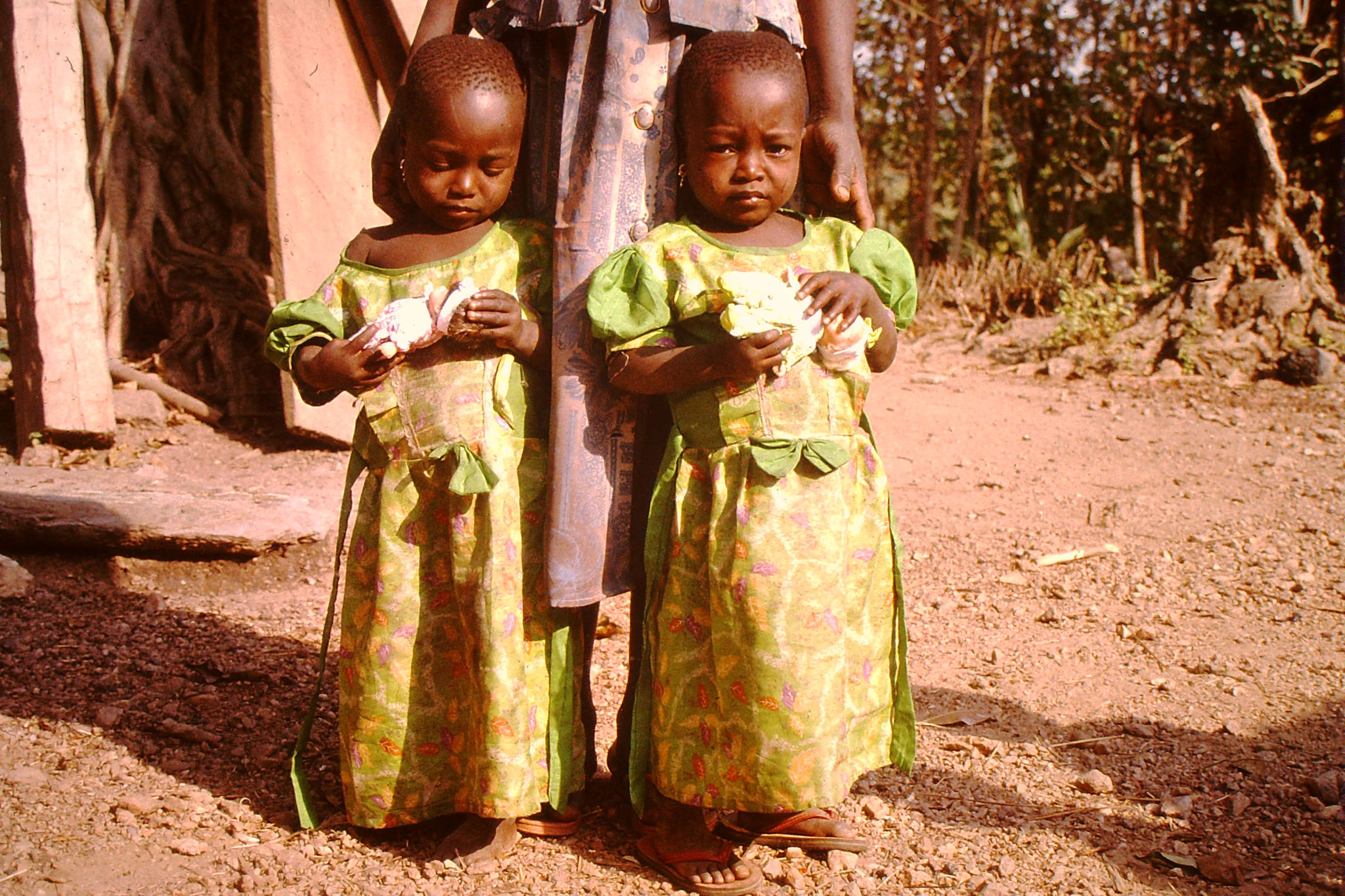 Katja und Justin, 3 Jahre alt. Wir waren bei ihnen 1998 sozusagen Geburtshelfer.