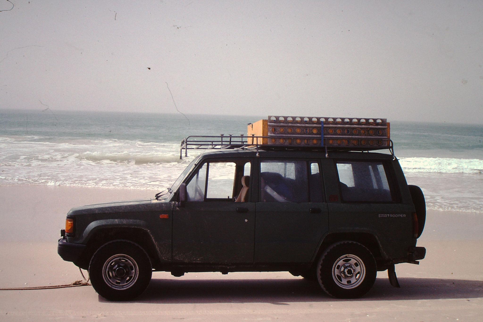 Unser Fahrzeug am Strand.