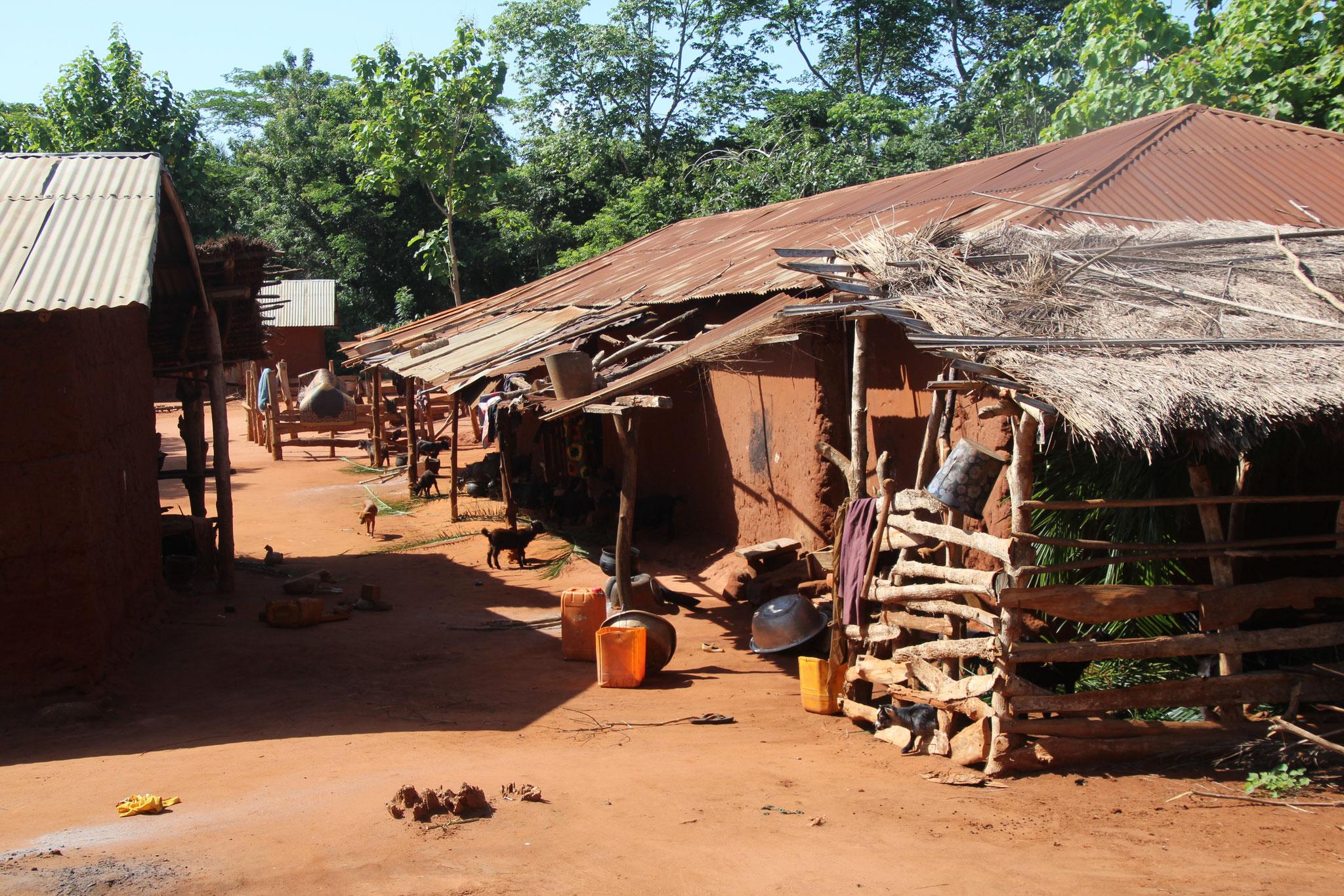Haus mit Ziegenstall in Sedome.