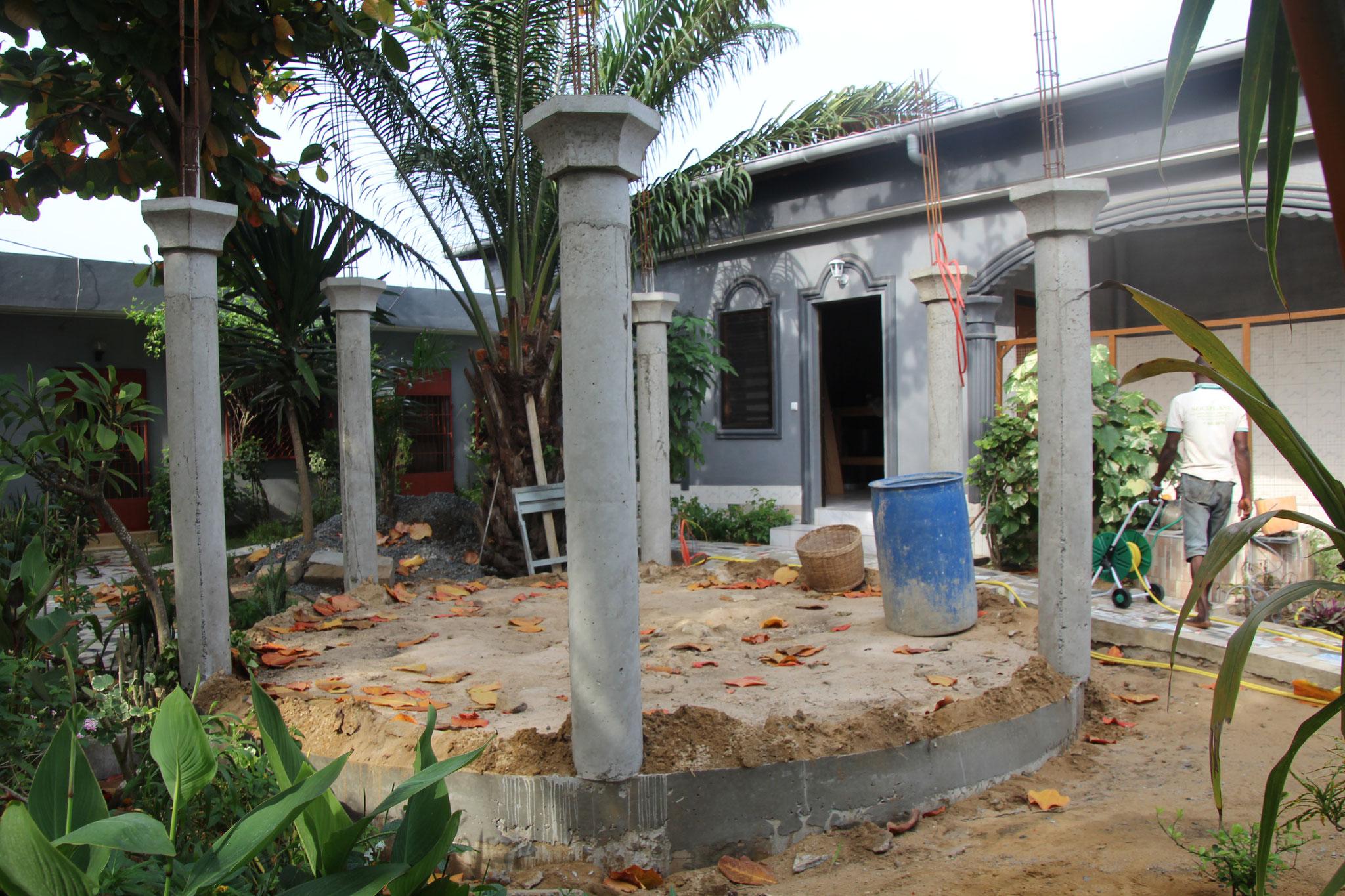 Alle sechs Säulen sind fertiggestellt.