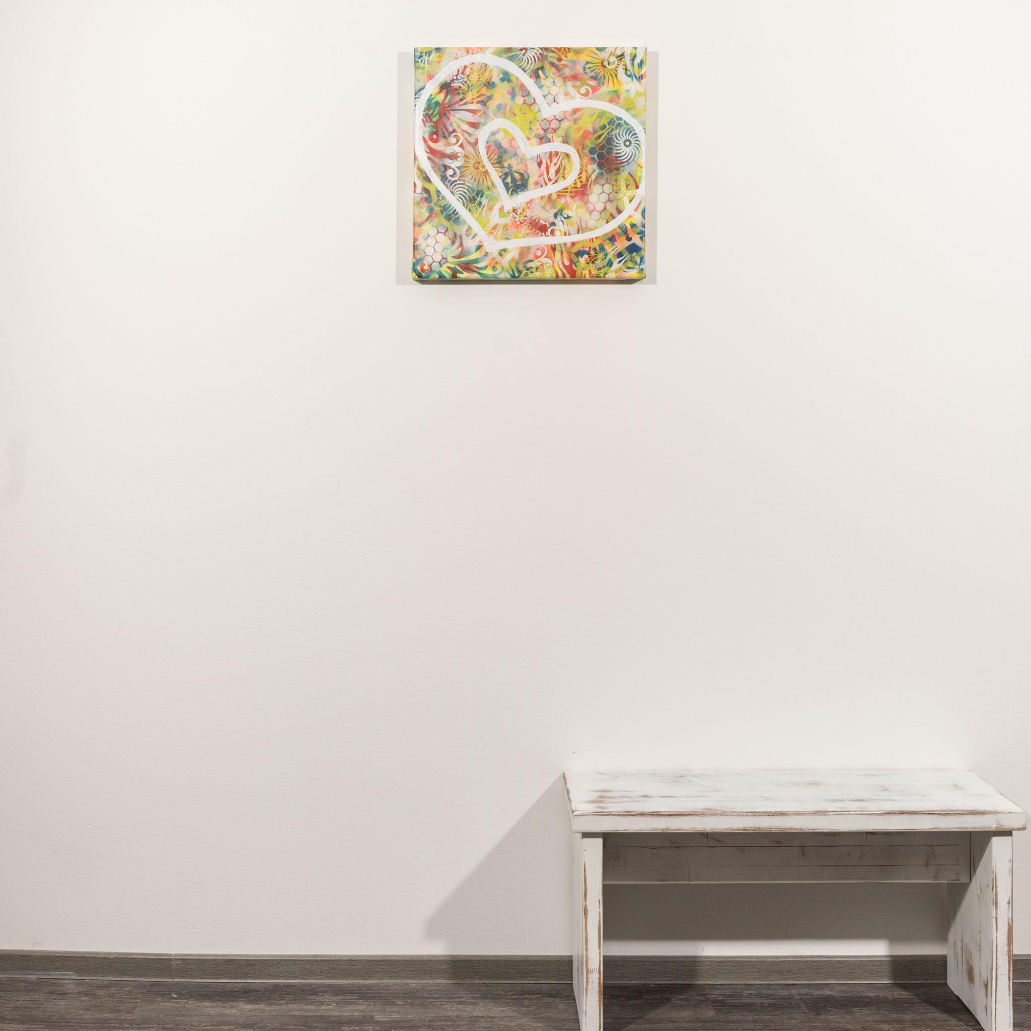 # 93 Herzenswelt ´21.            50 x 50cm