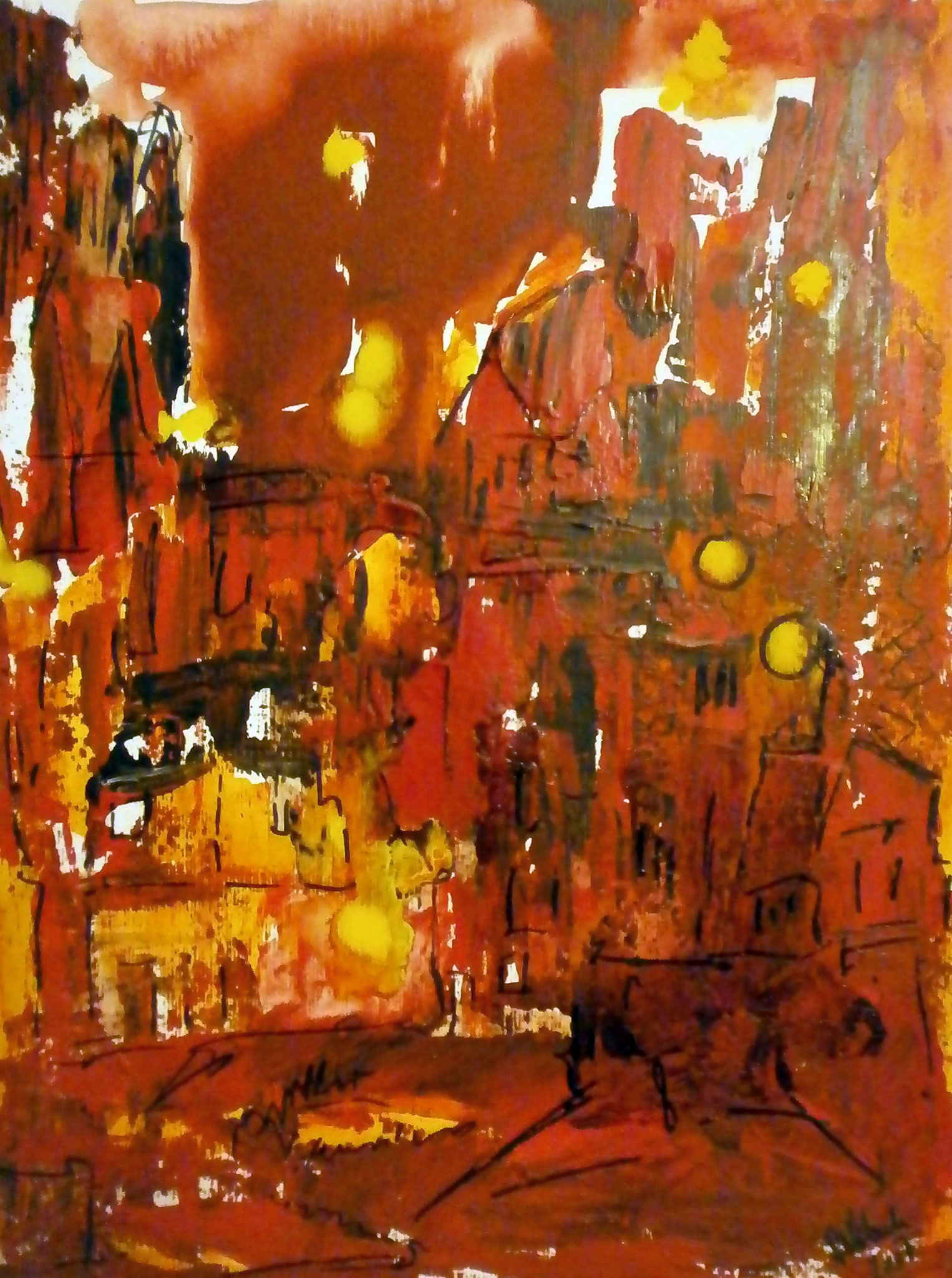Saturday Night Fever, 30x40, Mischtechnik