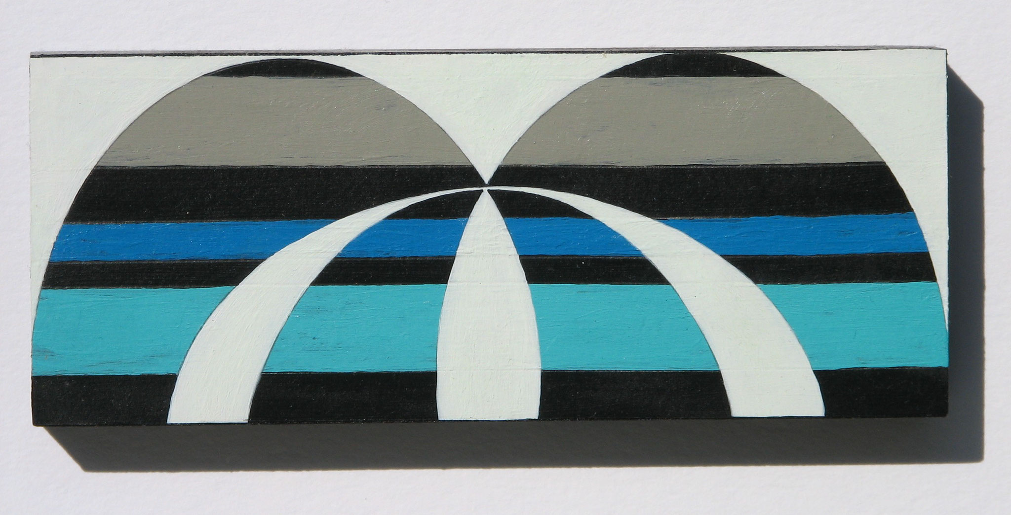 Fountain  2015  Acrylics on Paperblock  15 x 6 cm