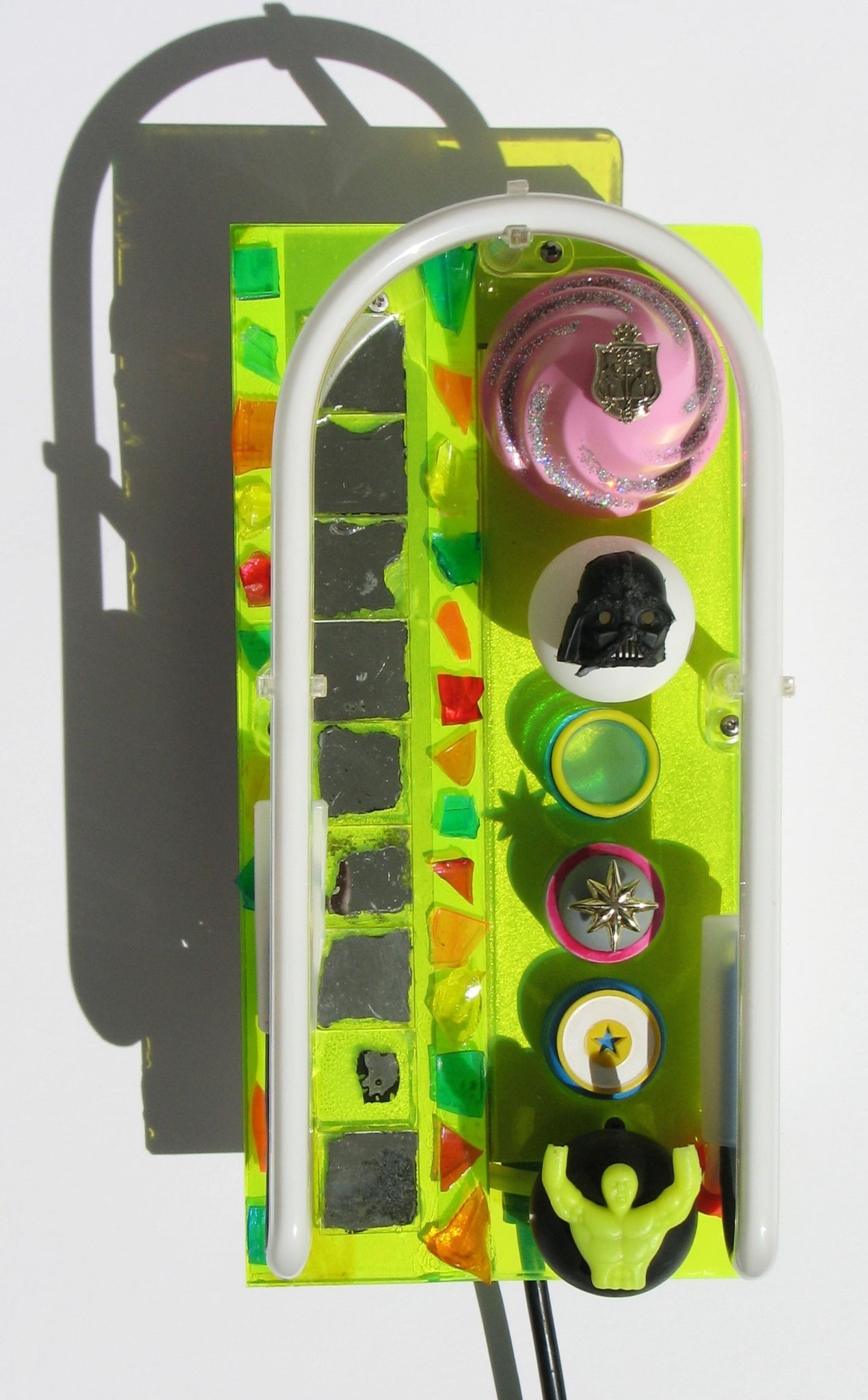 Funfair  2016  Neon light and Mixed Media  26 x 13 cm  thanks to www.sygns.com