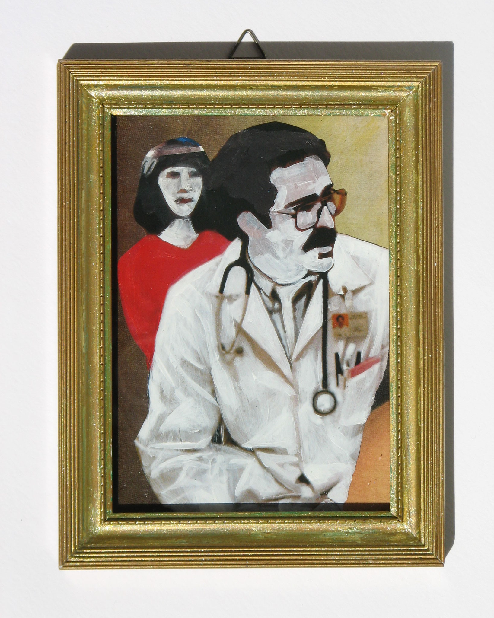 Doctor  2016  Mixed Media  9,2 x 13,8 cm