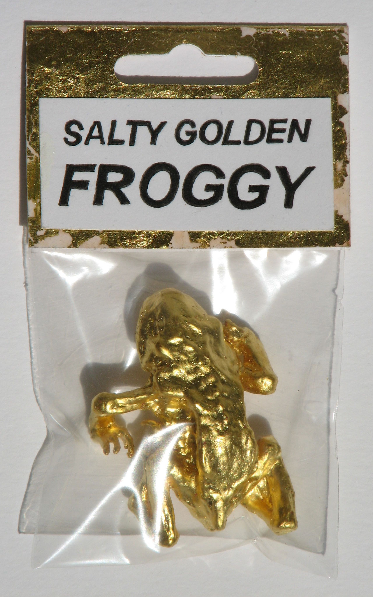 Salty Golden Froggy  2016  Gilt Frog in Packaging  4 x 5,5 cm