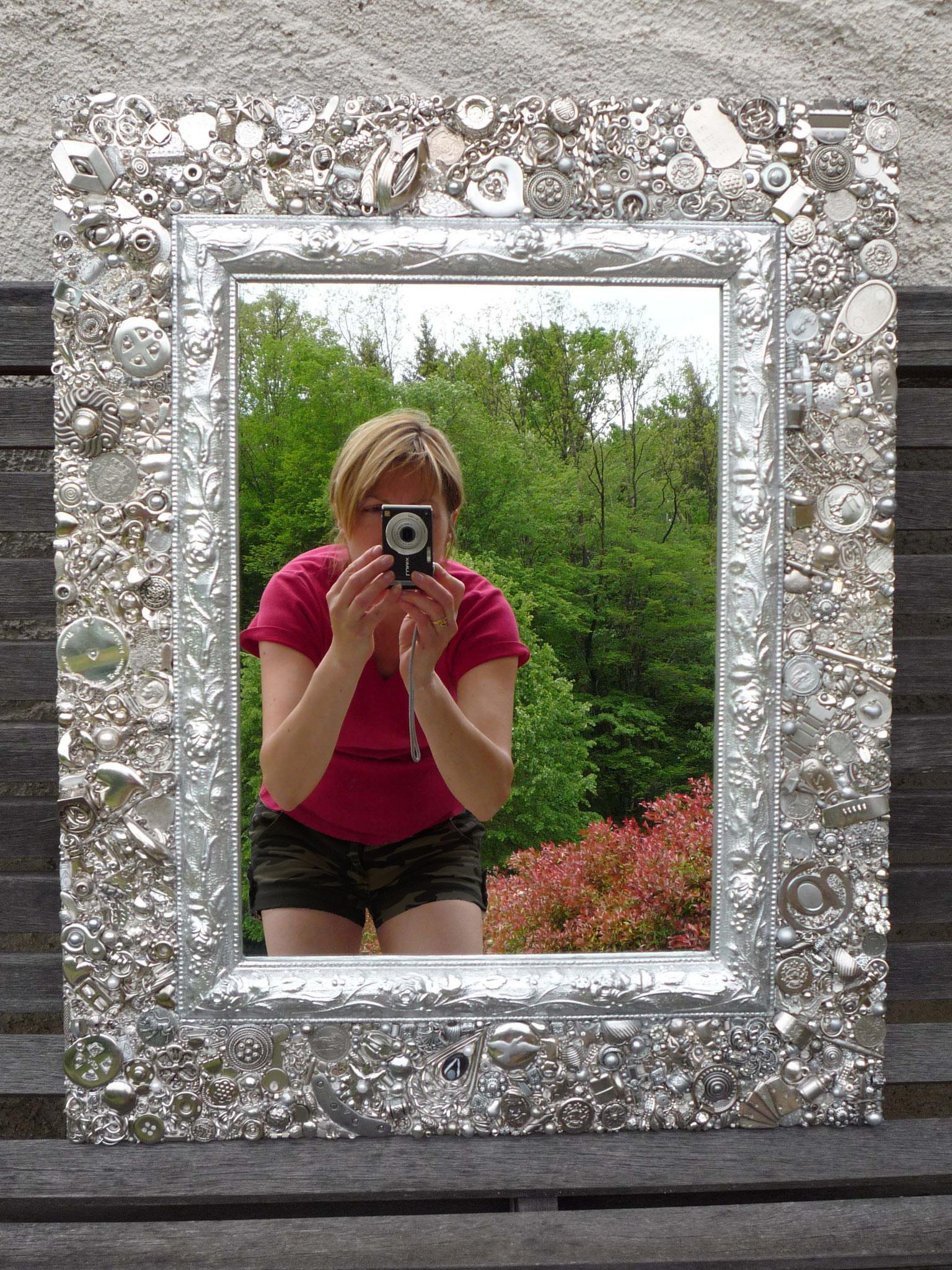 Miroir Accumulation (Chrome, inox, argent...)