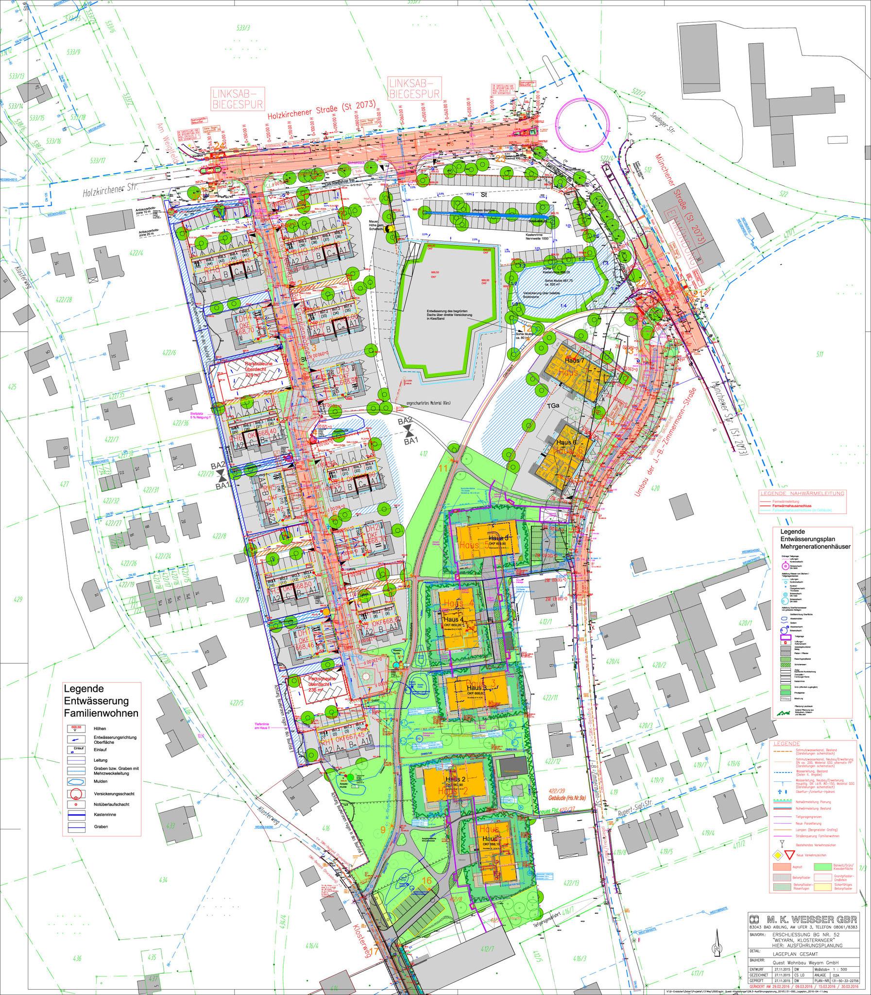 Der Lageplan zu dem umfangreichen Projekt