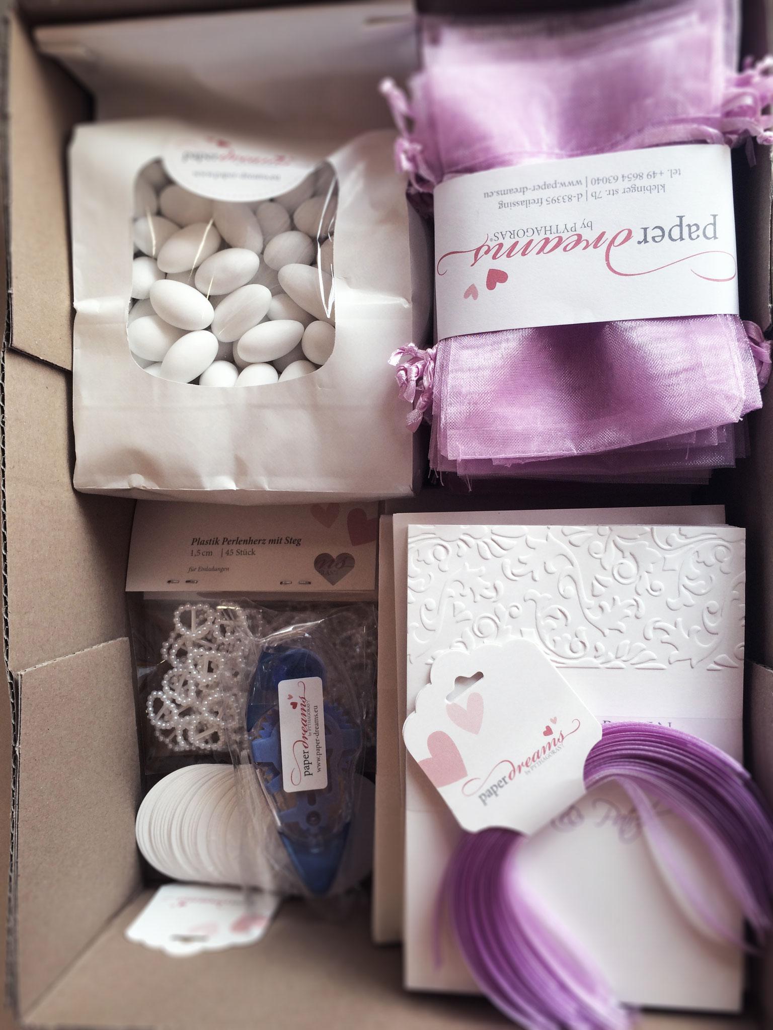 DIY-Paket mit Gastgeschenken...
