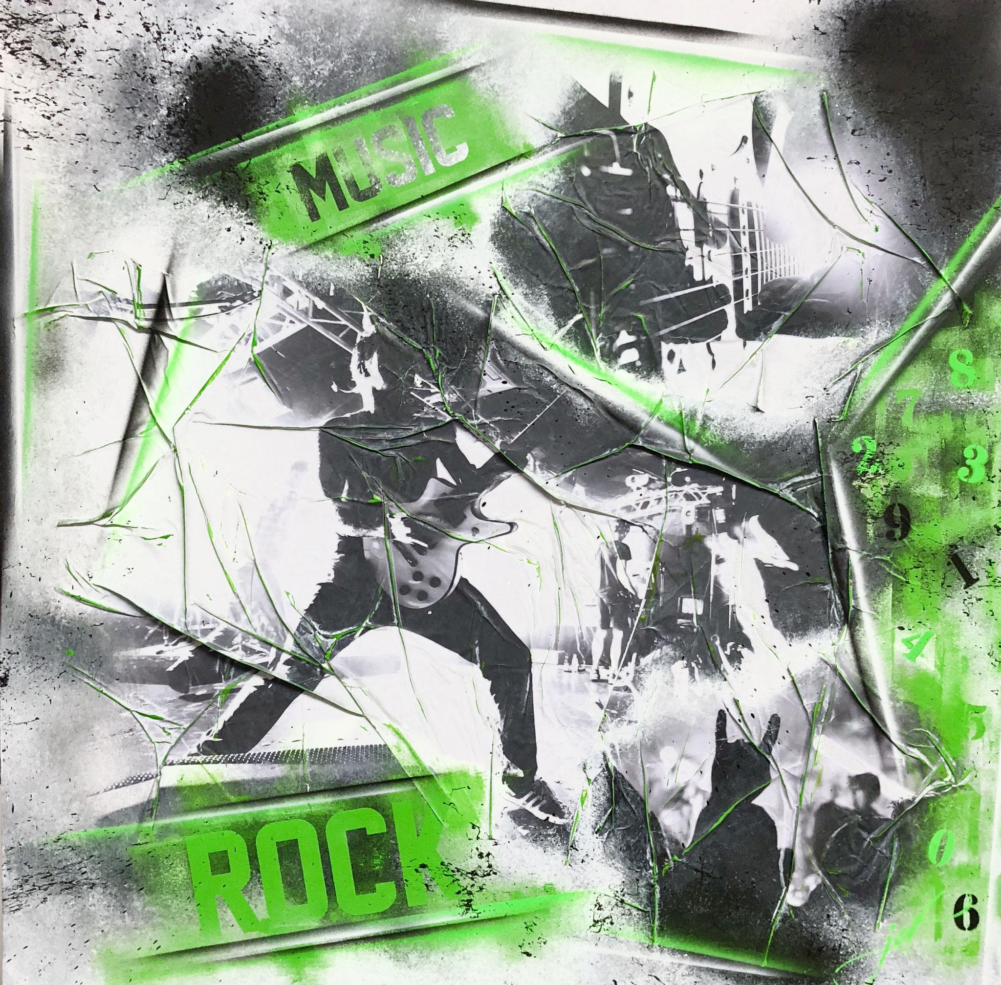 100 x 100 cm / Rockin' / Canvas and Mixmedia / 2018