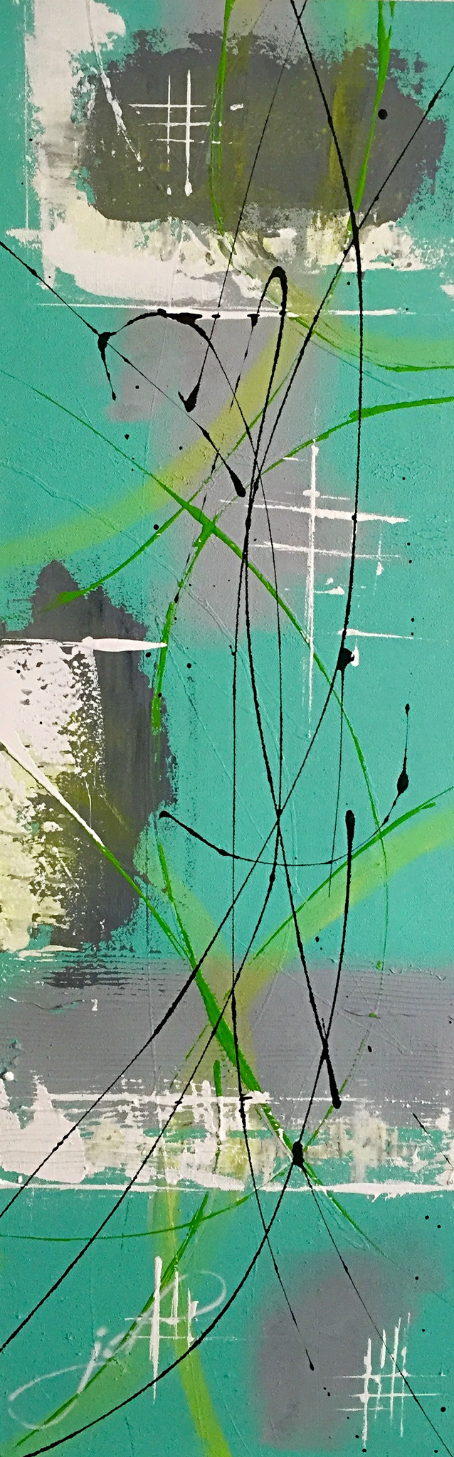 90 x 30 cm / look through / Canvas and Mixmedia / 2017