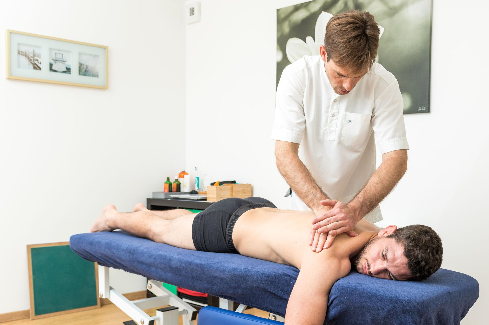 technique  d'étirement musculaire scapulaire
