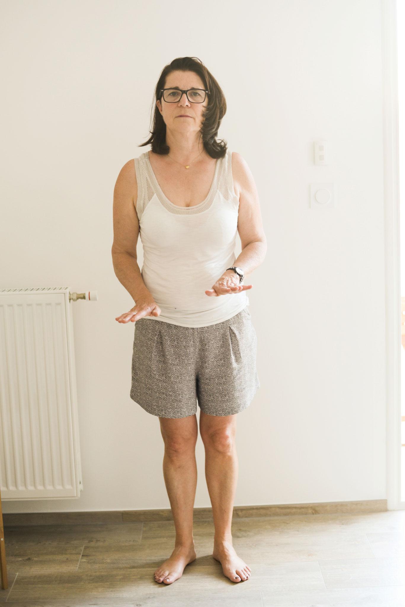 test de positionnement proprioceptif des pieds